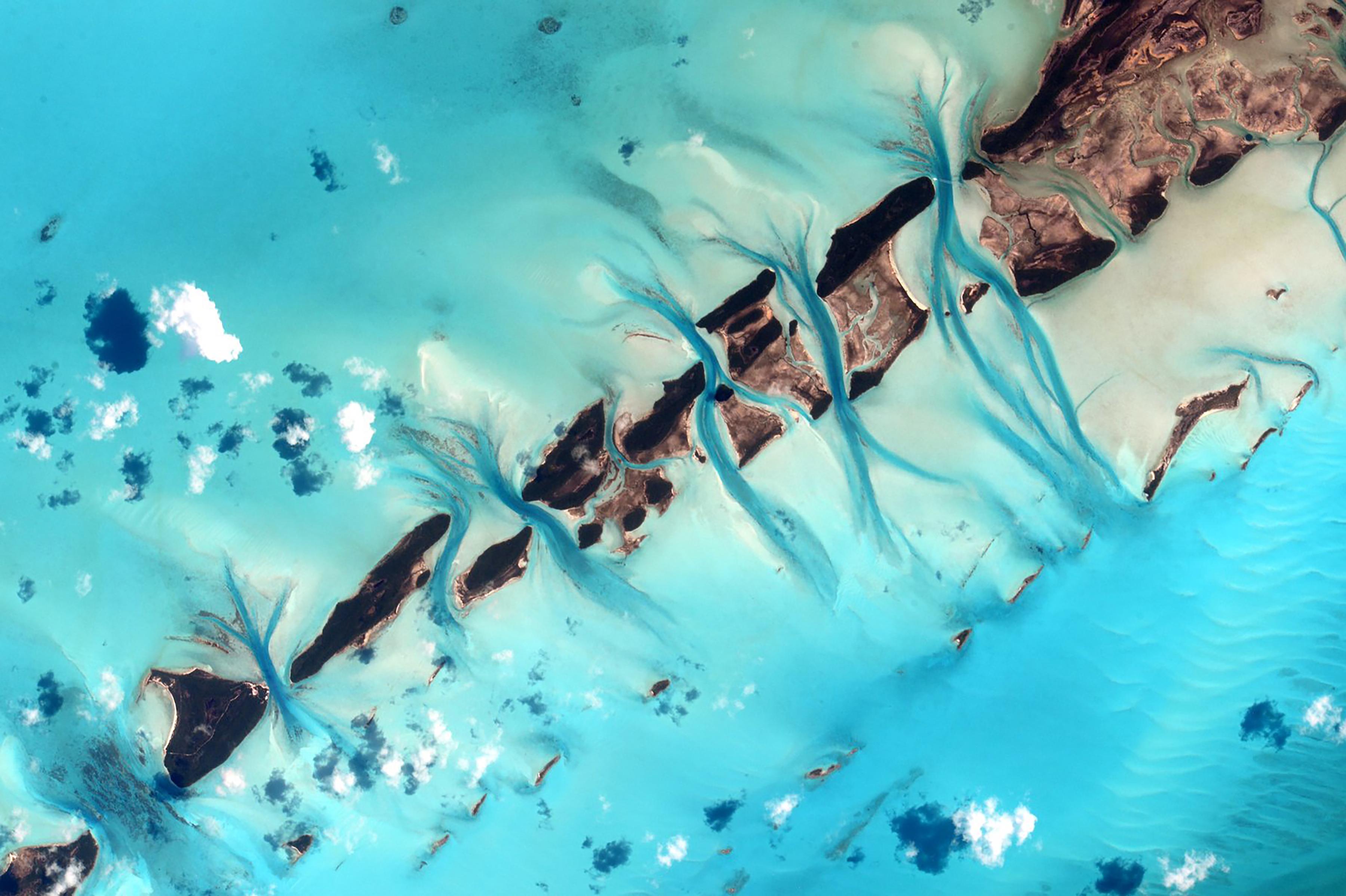 Vista a las Bahamas (Scott Kelly/NASA via The New York Times)