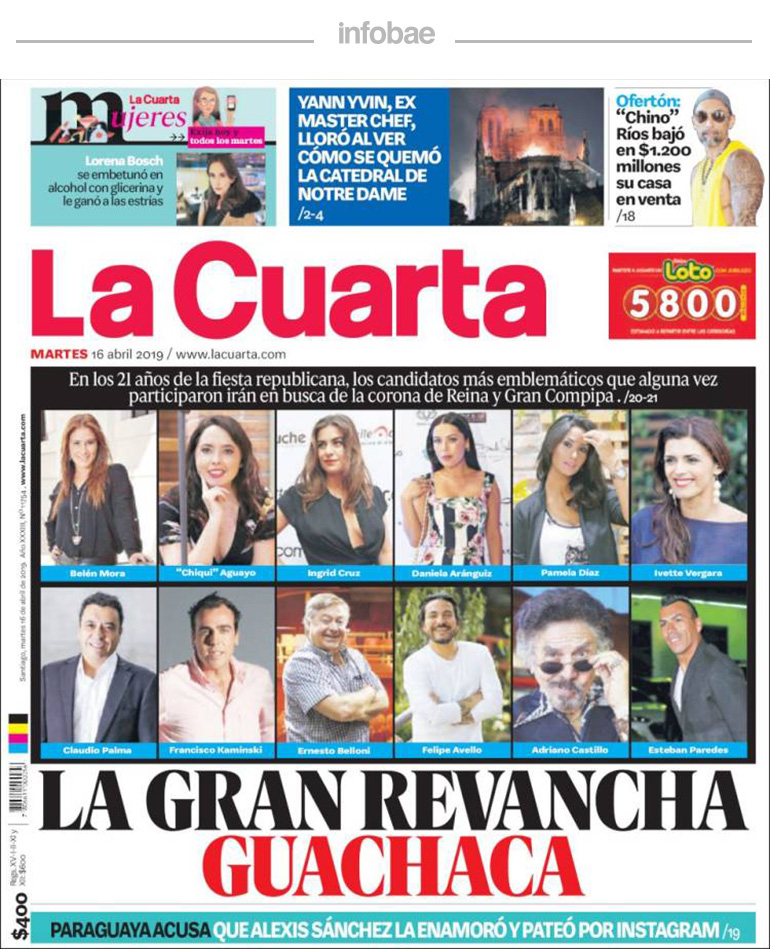 La Cuarta, Chile, Miércoles 17 de abril de 2019 | KONECTADOS ...