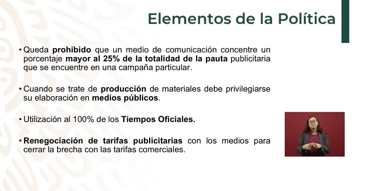 López Obrador anunció las nuevas políticas de comunicación.