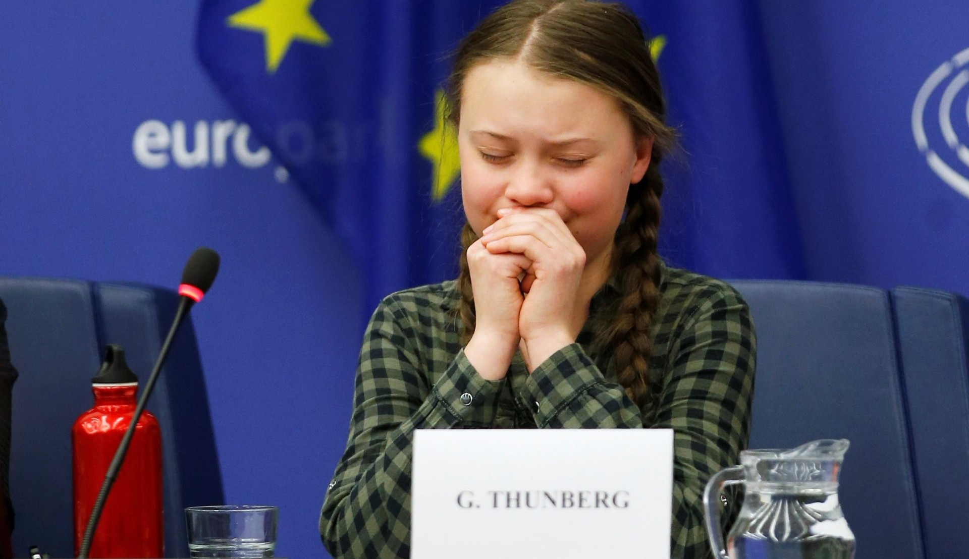 Image result for greta thunberg weeps
