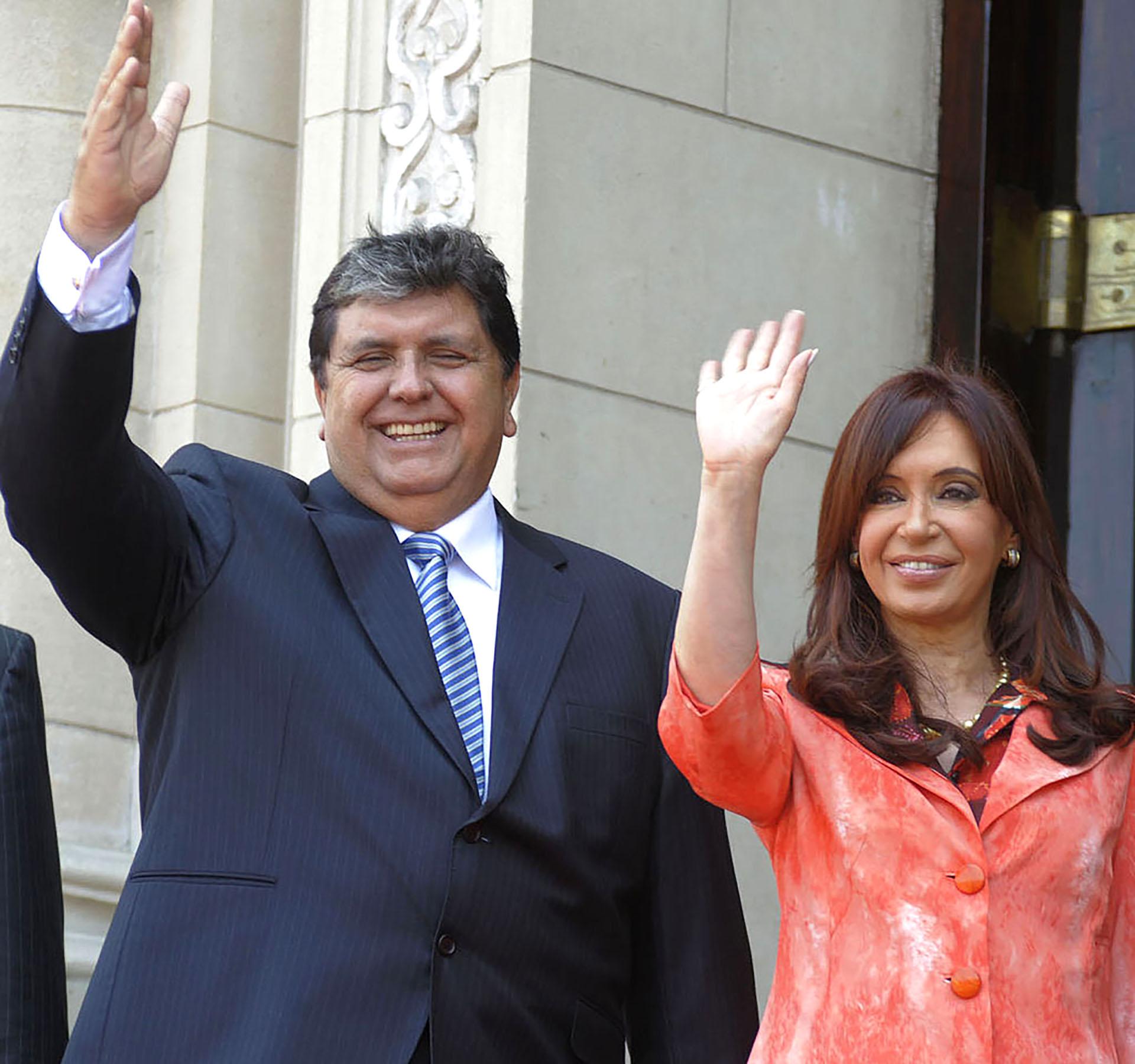 García con Cristina Fernández de Kirchner, ex Presidente de la Nación Argentina, durante su segundo mandato (foto: Presidencia de la Nación argentina)