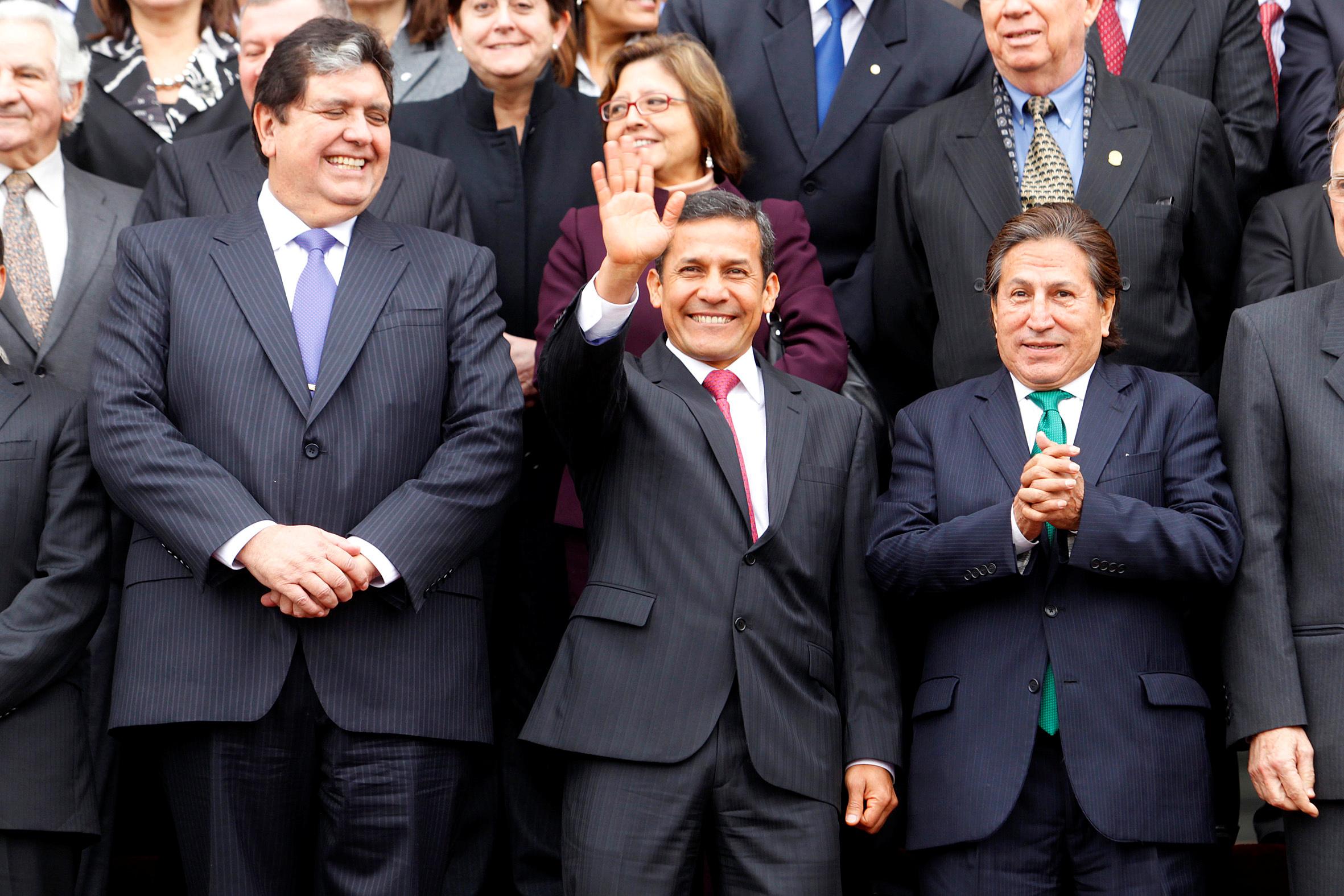 García, hoy fallecido, junto a Ollanta Humala (2006-2011), hoy investigado por la justicia, y Alejandro Toledo (2001-2006), actualmente prófugo