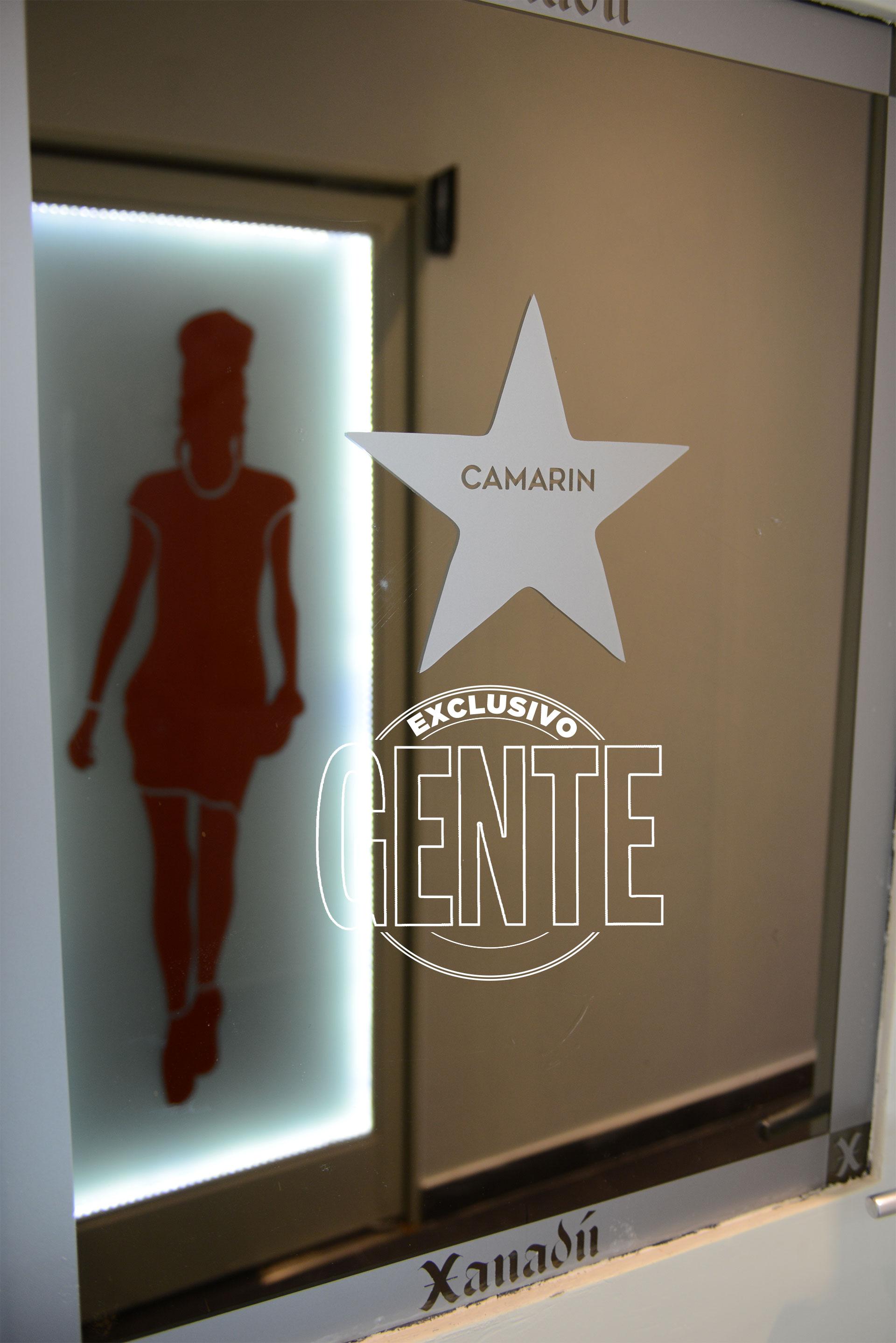La puerta del camarín de Xanadú. Foto: Julio César Ruiz/GENTE