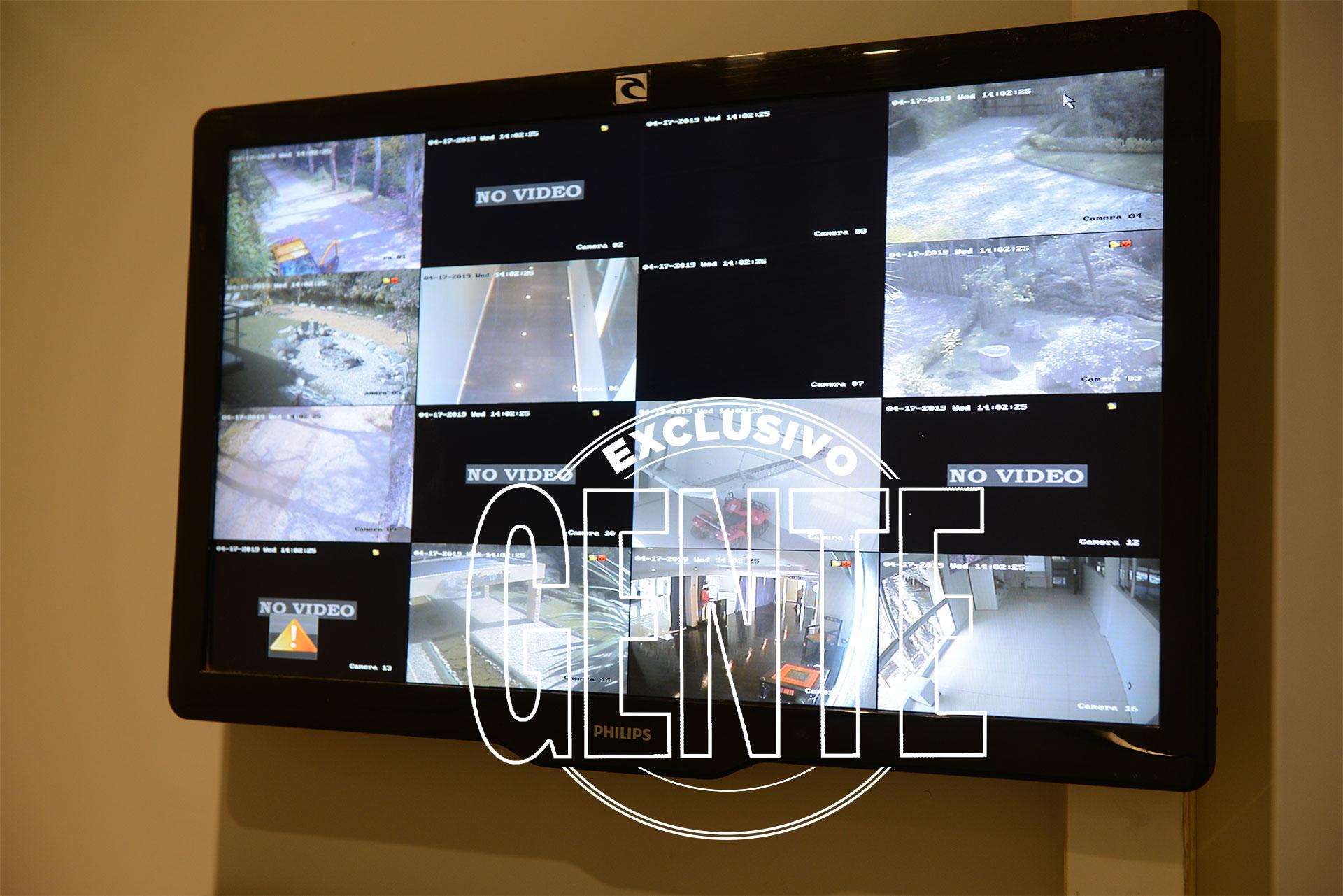 Las cámaras de seguridad de Xanadú. Foto: Julio César Ruiz/GENTE