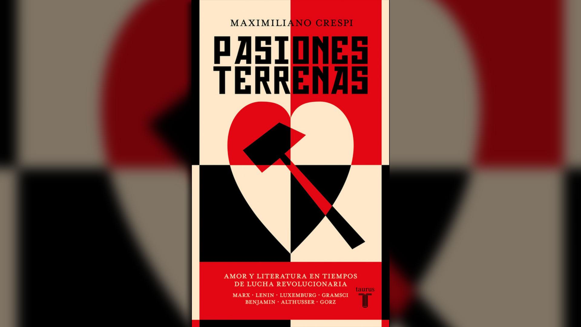 """Portada de """"Pasiones terrenas"""" de Maximiliano Crespi"""
