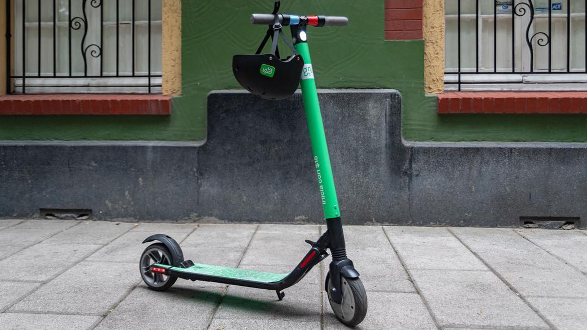 Un monopatín electrico de los que ya se ven circular por la ciudad de Buenos Aires (@grinscooters)