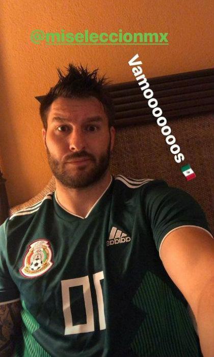 Gignac, con la camiseta de la selección mexicana durante el Mundial de Rusia 2018 (Foto: instagram)