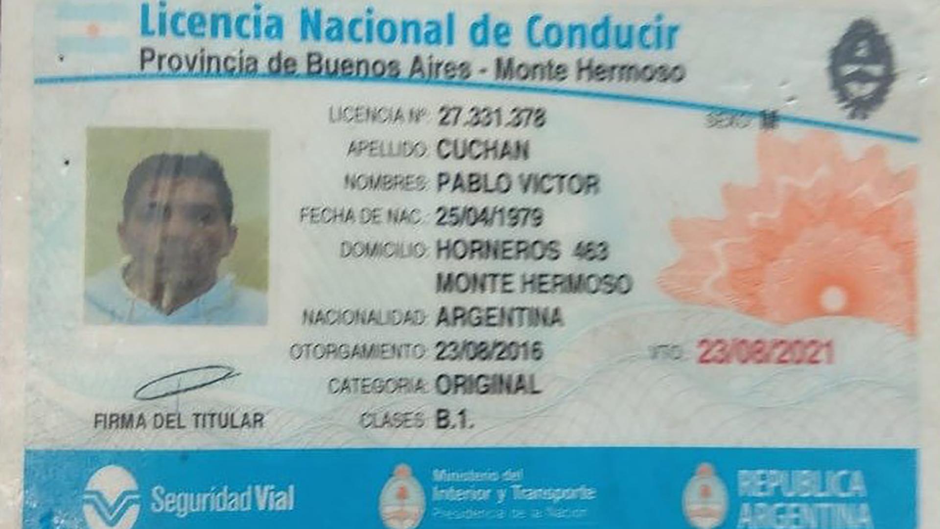 A Cuchán le retuvieron la licencia de conducir y el vehículo