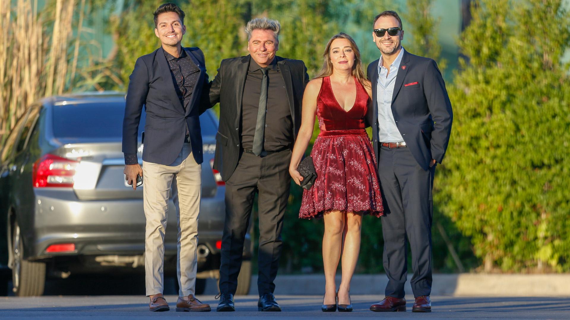 Guido Záffora, Daniel Ambrosino, Adrián Pallares y su mujer Cecilia
