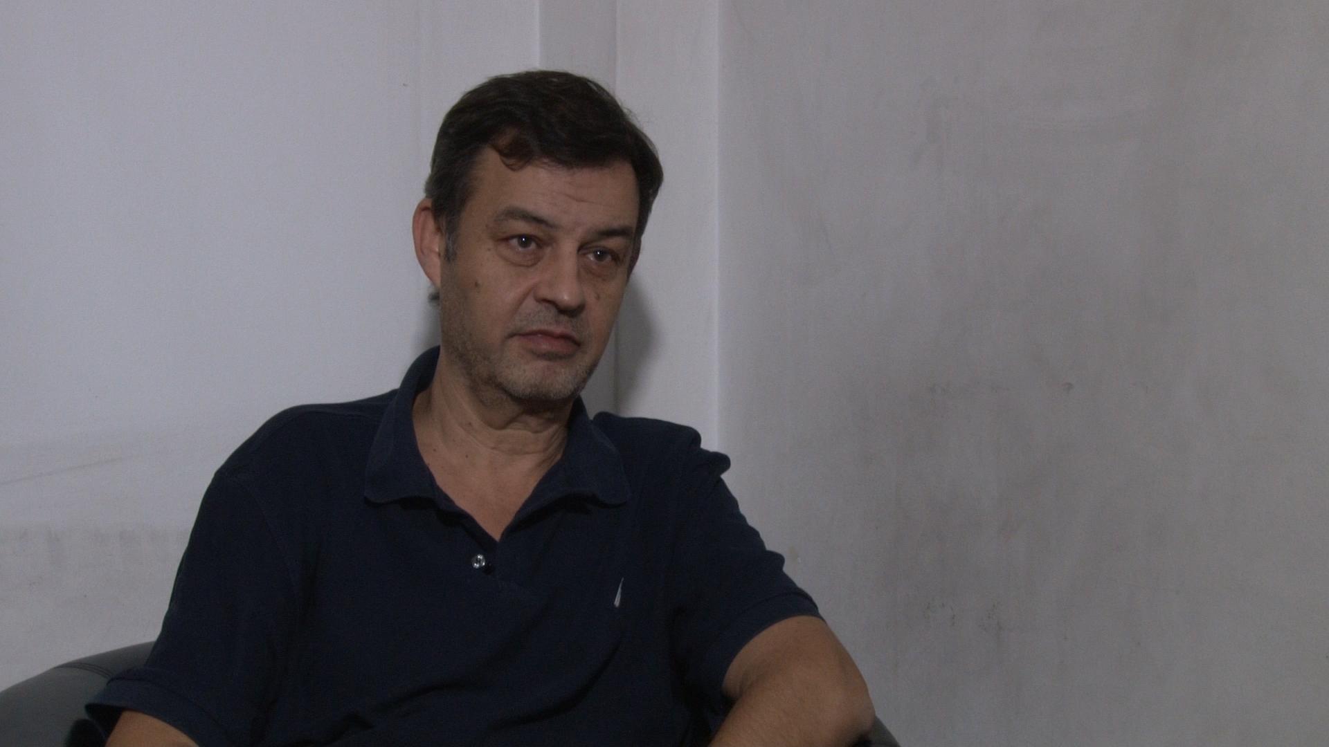 Víctor Manzanares, durante la entrevista en La Cornisa con Luis Majul