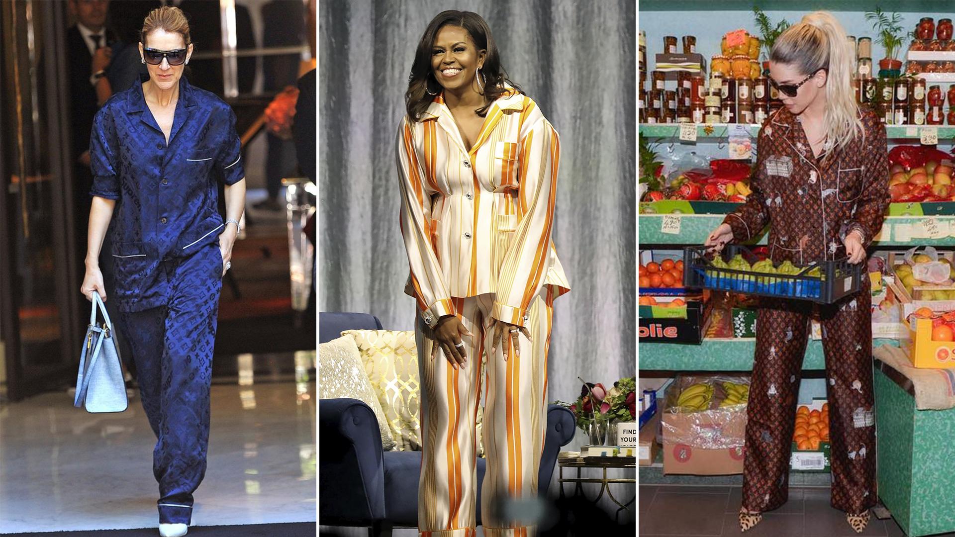 a4fd95f87622 El pijama, la nueva prenda furor entre las famosas, desde Michelle Obama  hasta Wanda Nara - Infobae