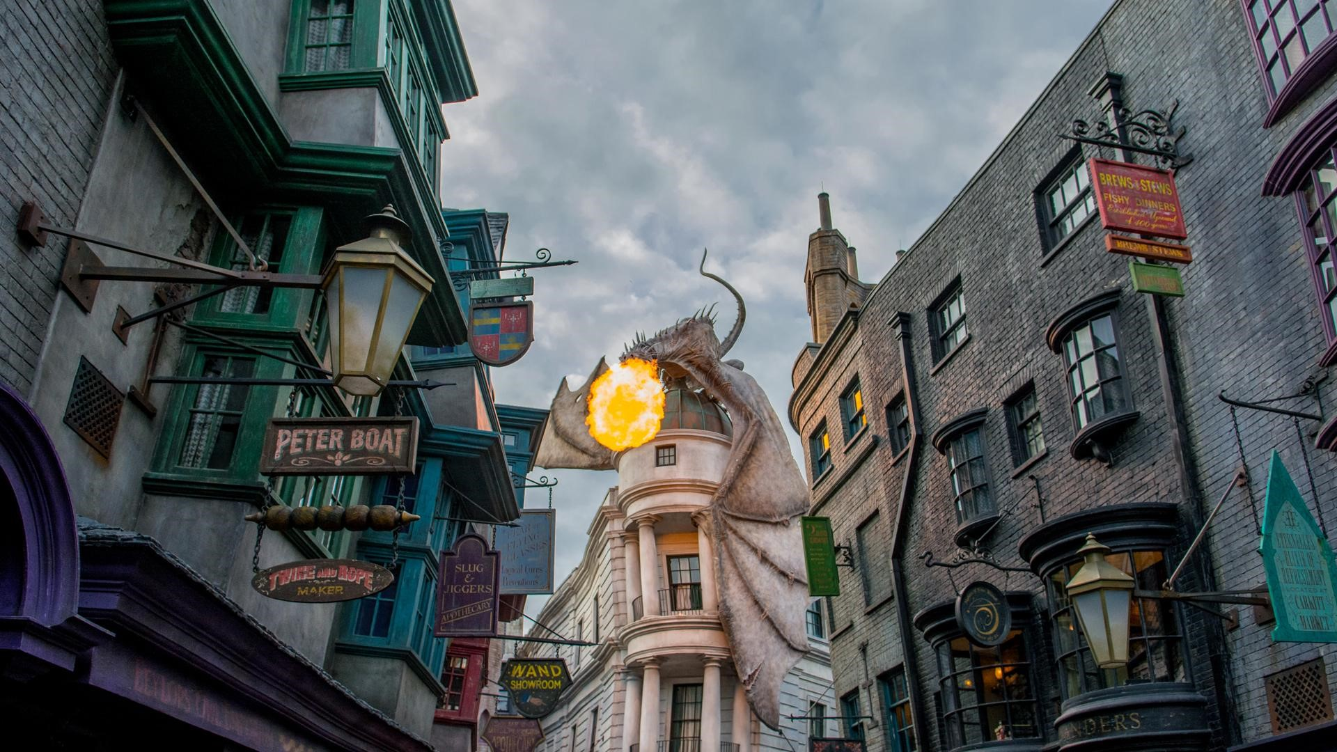 En Orlando, Florida hay más de treinta parques temáticos. El de Harry Potter, en Universal, es uno de los más visitados por los viajantes de todo el planeta