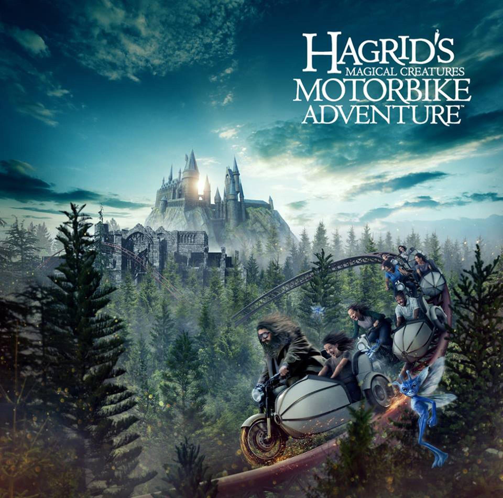 """El trece de junio, en el parque Islands of Adventure, se inaugurará la montaña rusa """"Hagrid's Magical Creatures Motorbike Adventure"""", ideal para los fanes de la saga """"Harry Potter"""""""