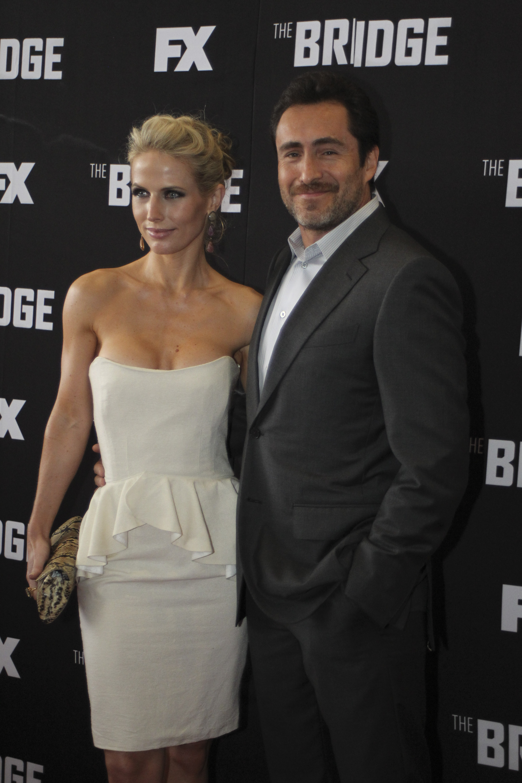 El actor mexicano Demián Bichir y su esposa Stefanie Sherk (Foto: SAÚL LÓPEZ /CUARTOSCURO)