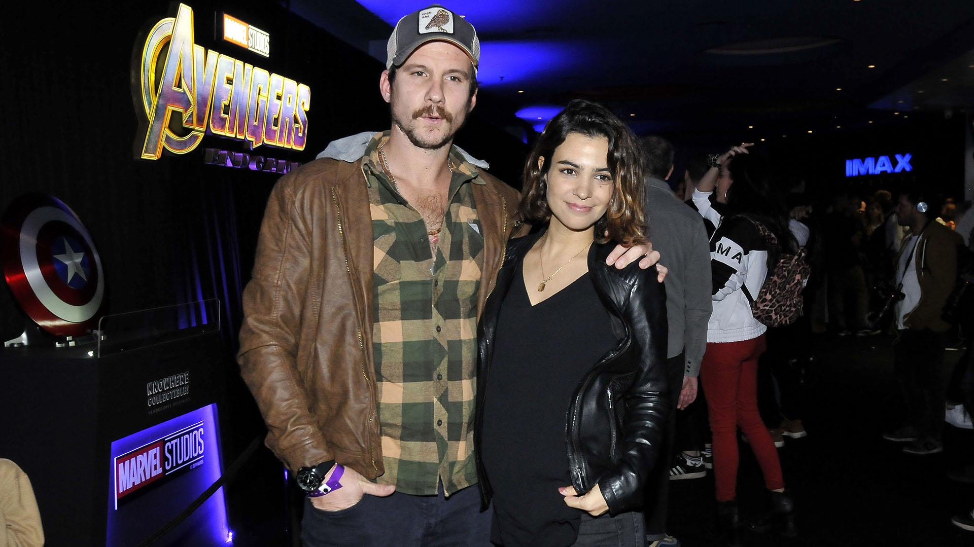 Agustina Cherri y su pareja Tomás Vera