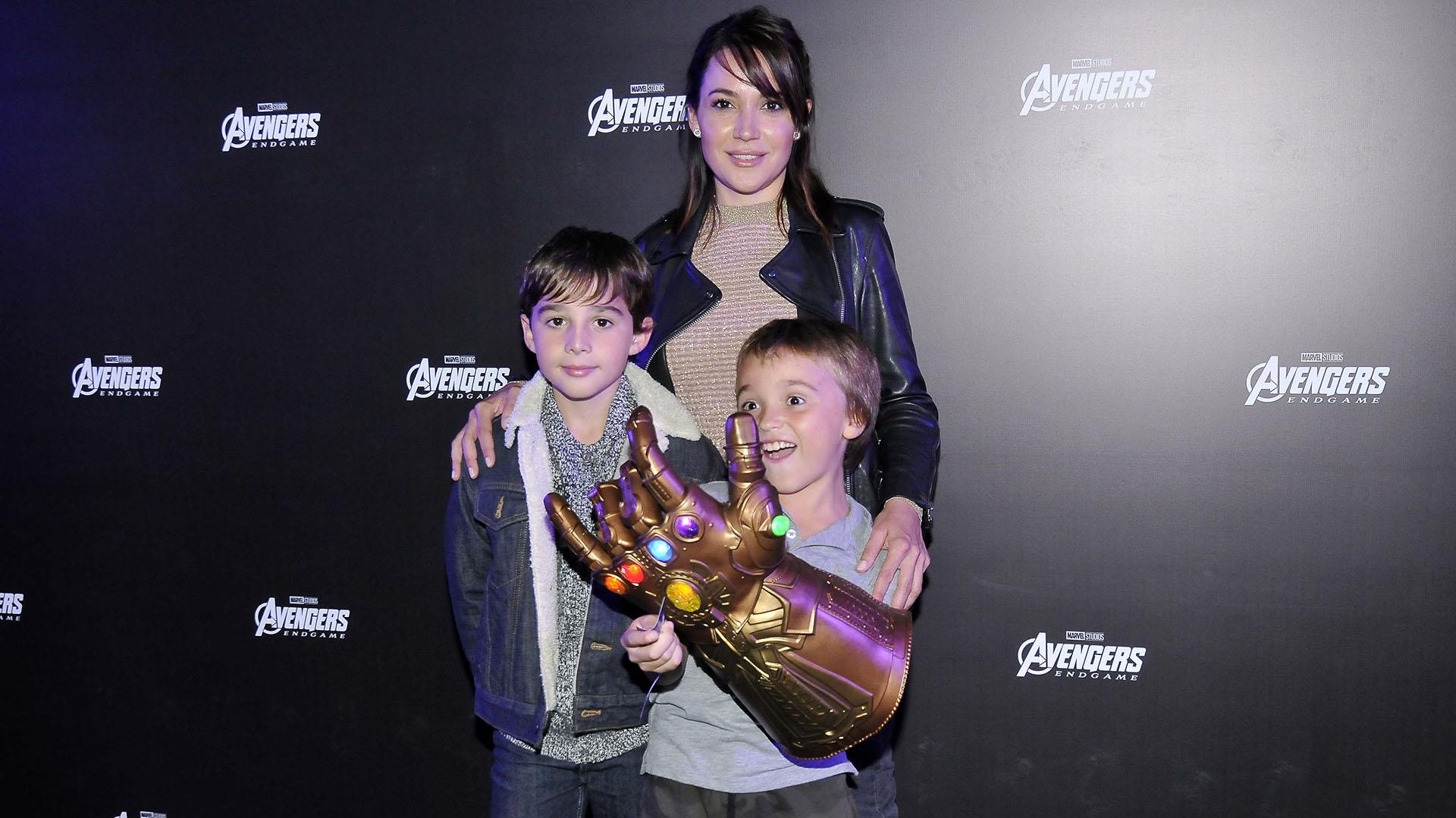 Valeria Gastaldi y sus hijos Santino y Manuel