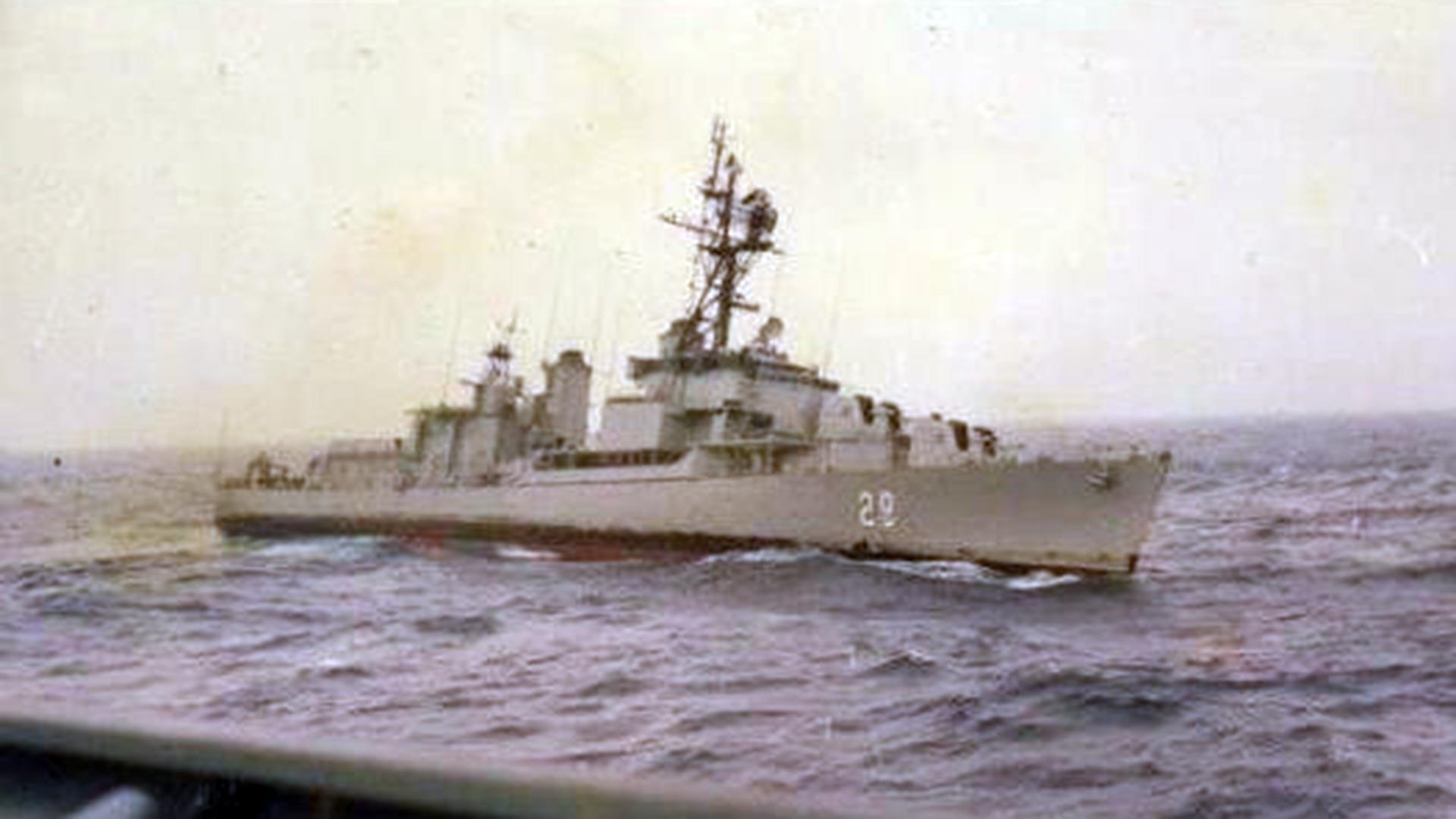 El Piedrabuena era un destructor de fabricación estadounidense de la clase Allen M. Sumner, y entró en servicio en la Armada Argentina en 1977