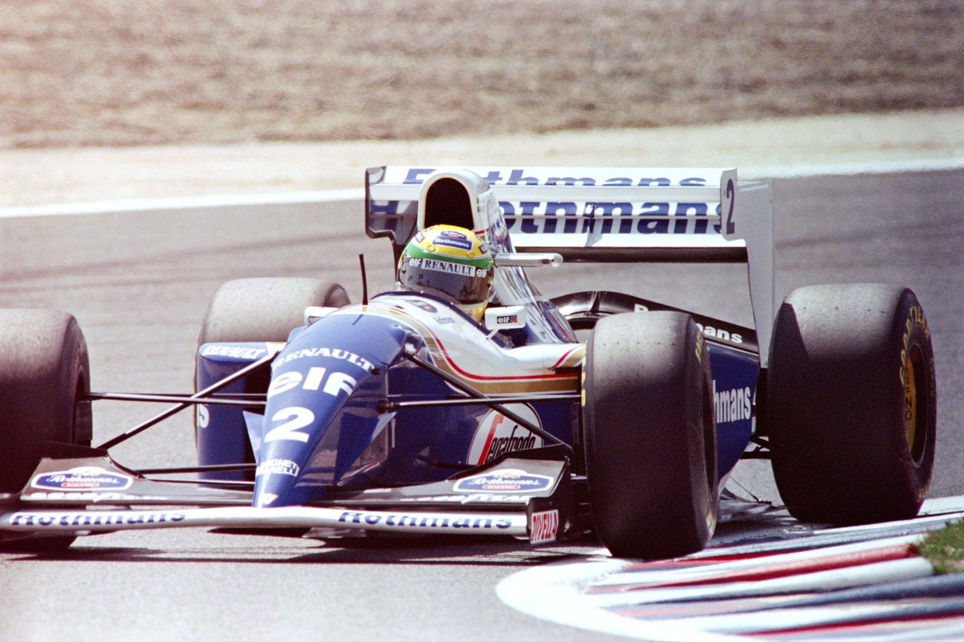 Una postal con el Williams número 2 que usó en 1994, su último año en la Fórmula 1