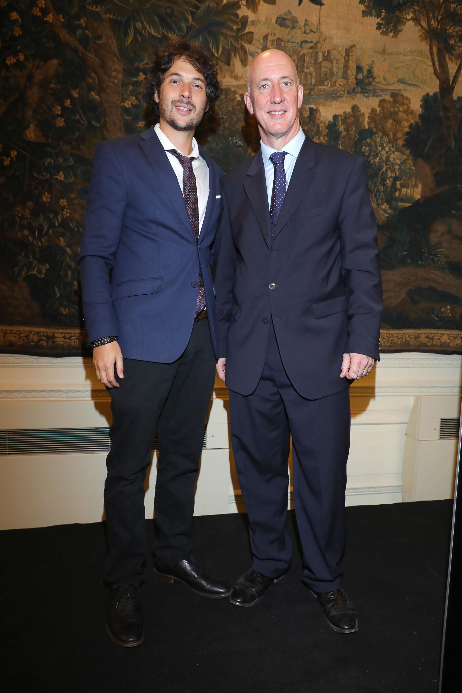 Agustino Fontevecchia (Editorial Perfil) y Mark Kent