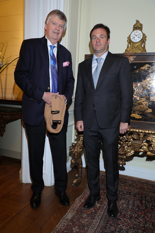 Guillermo Stanley y Juan Pablo Maglier, director de Relaciones Institucionales de La Rural