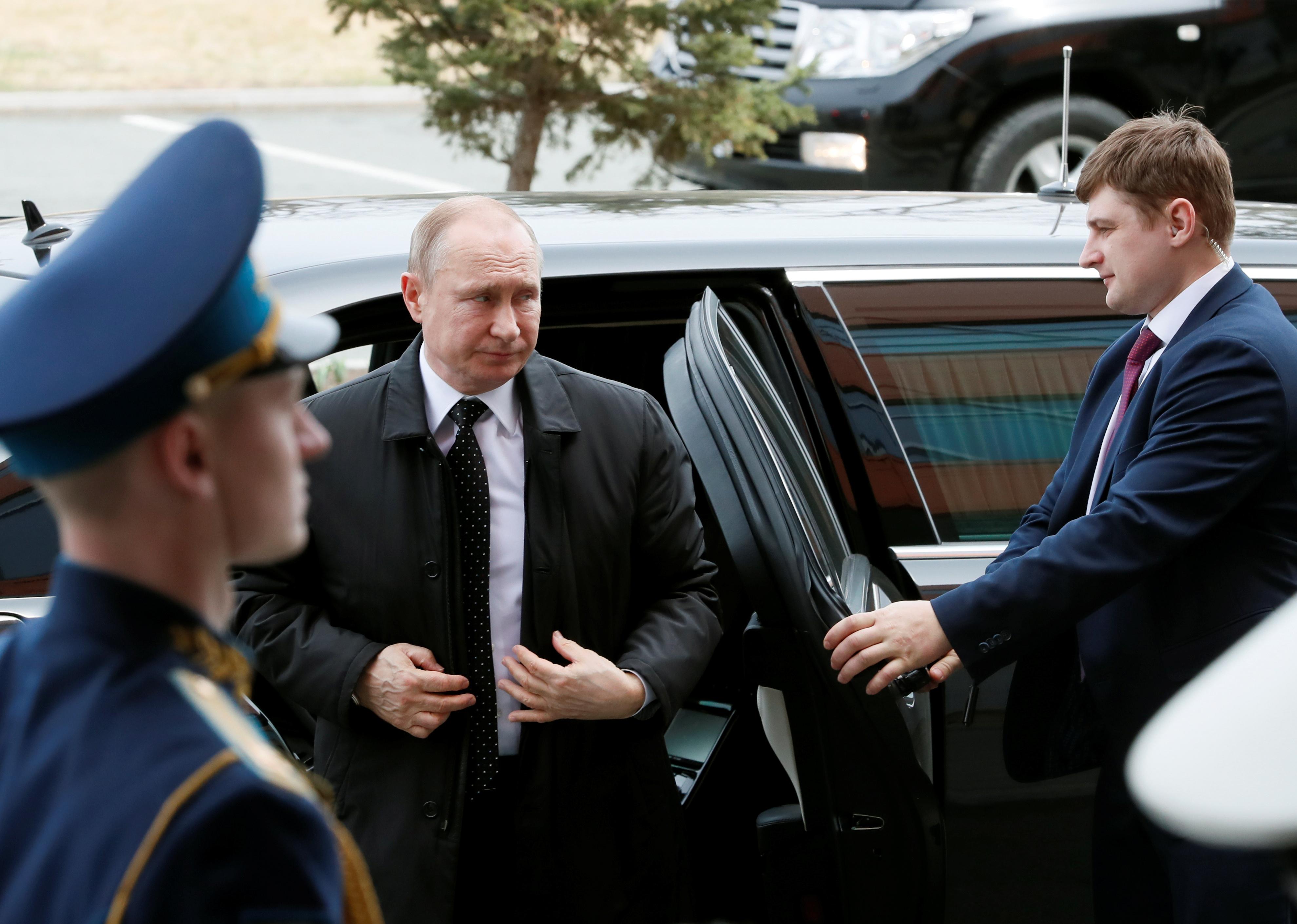 Putin en su llegada al encuentro con el líder norcoreano. (REUTERS/Shamil Zhumatov)