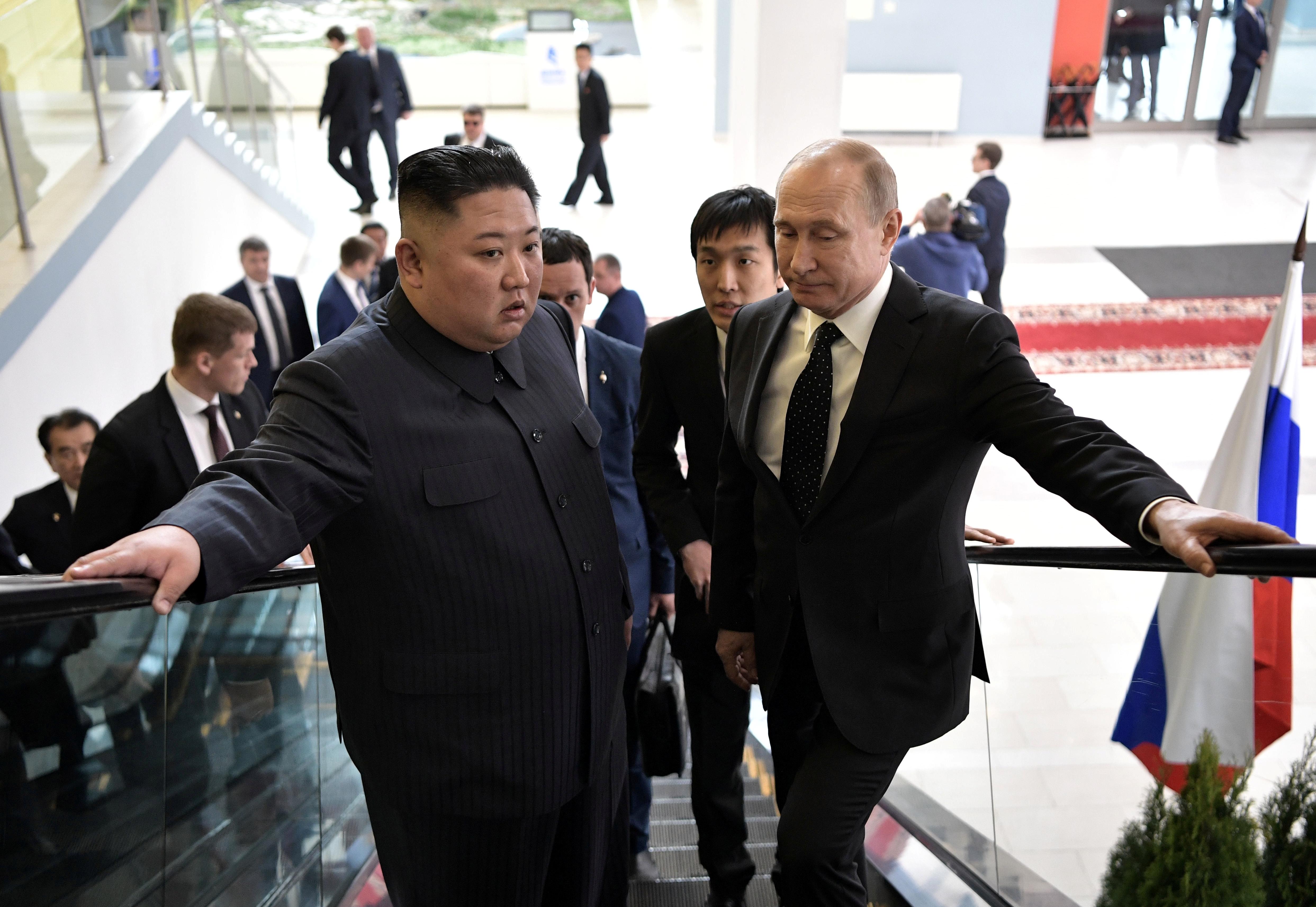 Putin y Kimen Vladivostok. (Sputnik/Alexei Nikolsky/Kremlin via REUTERS)