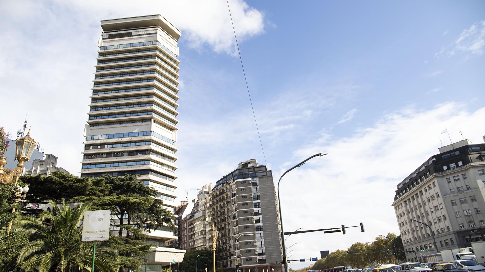 """La torre pentagonal también conocida como """"flotante"""""""