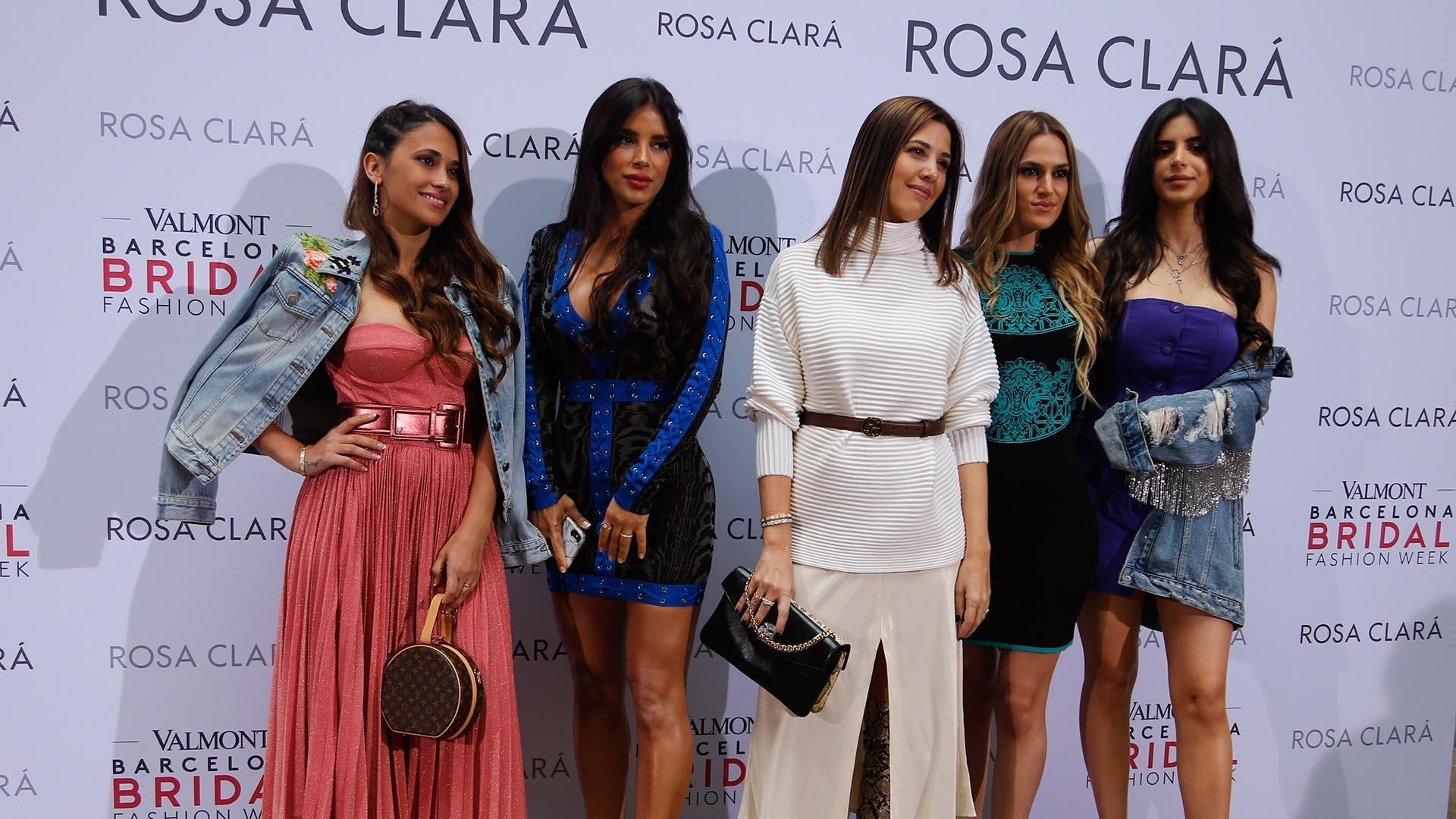 Antonela Roccuzzo participó de la Bridal Fashion Week en Barcelona