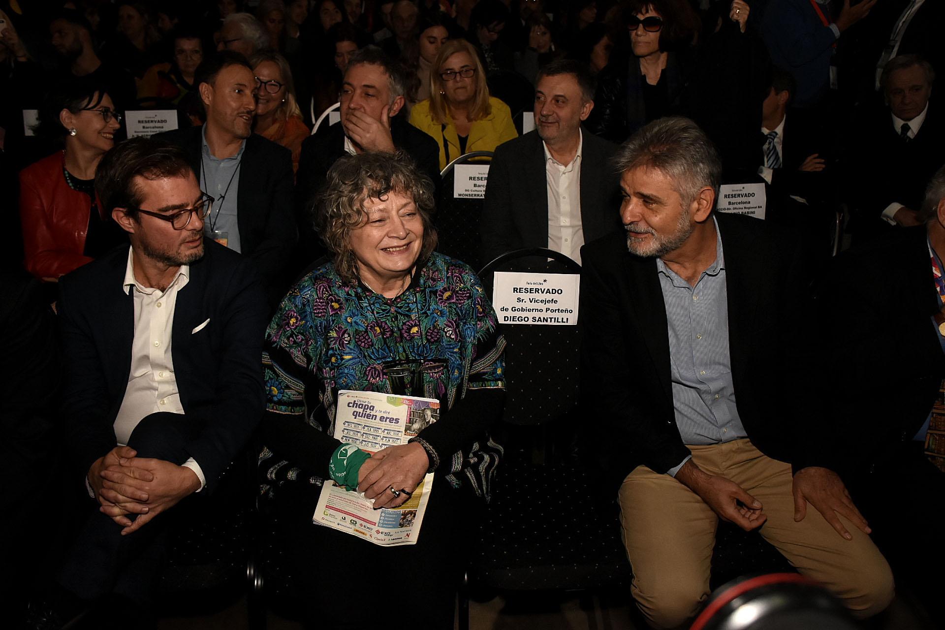 Enrique Avogadro, Rita Segato y Daniel Filmus (Nicolás Stulberg)