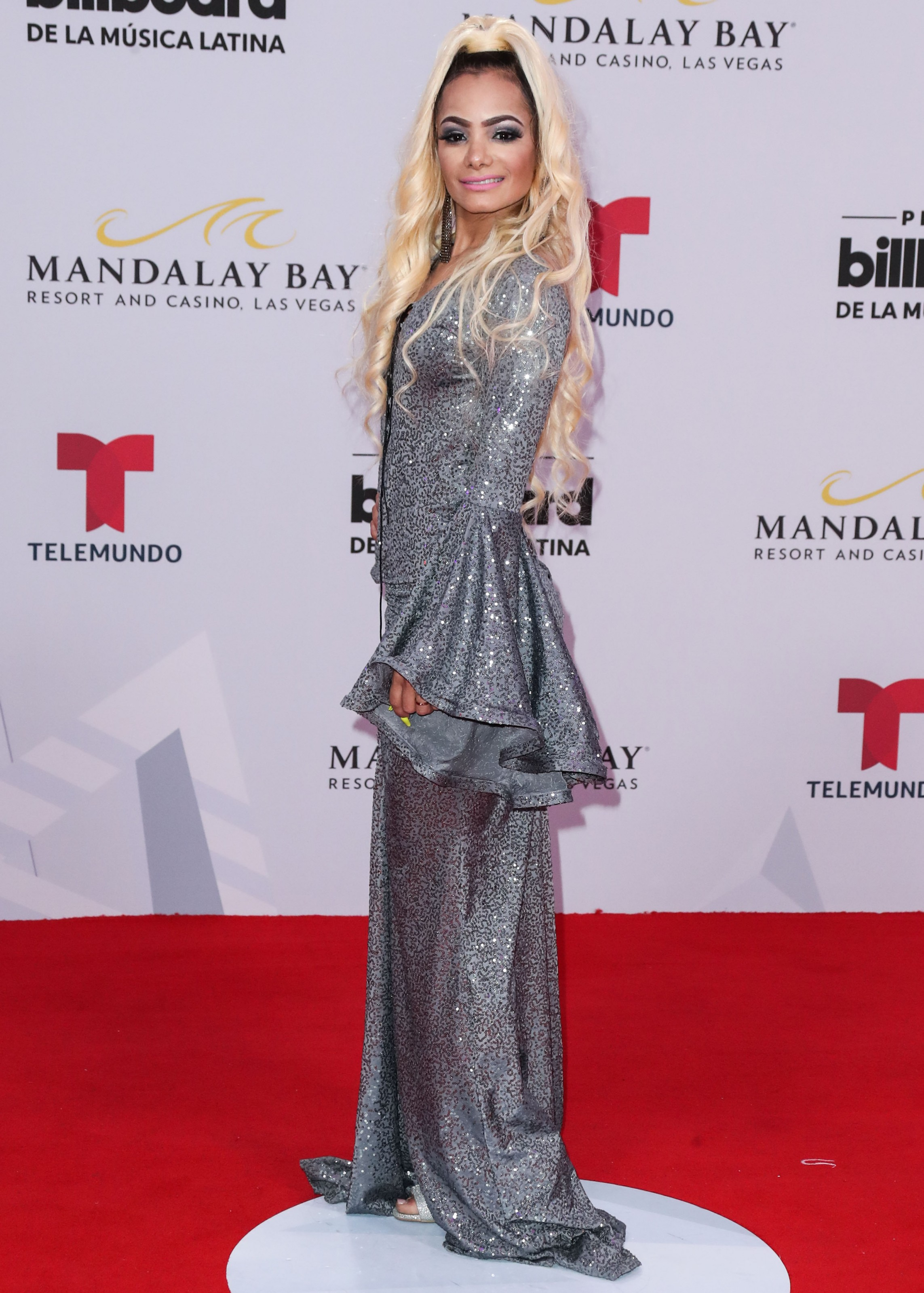 2019 Billboard Latin Music Awards held at the Mandalay Bay Events Center on April 25, 2019 in Las Vegas, Nevada, United States.25 Apr 2019Pictured: Lady Janny.Photo credit: Xavier Collin/Image Press Agency / MEGATheMegaAgency.com+1 888 505 6342