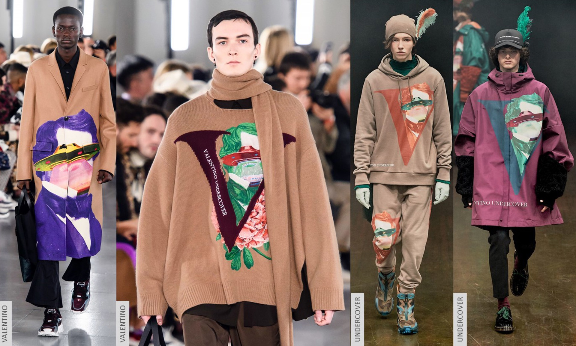 Sensibilidad artística y detalles artísticos como los de la colaboración de Valentino con Jun Takahashi para Undercover son tendencia.