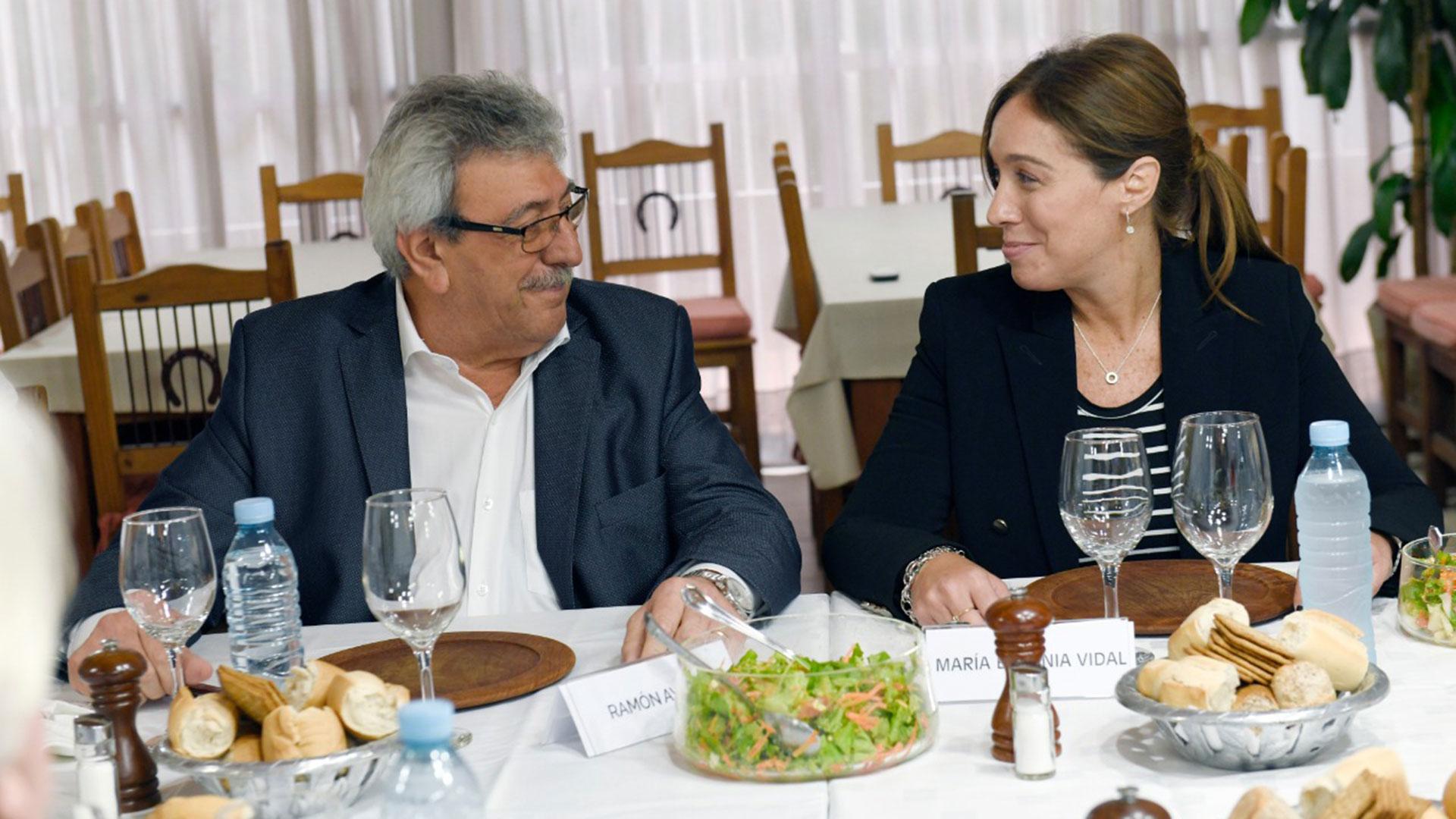 María Eugenia Vidal a fin de abril en el quincho de Uatre