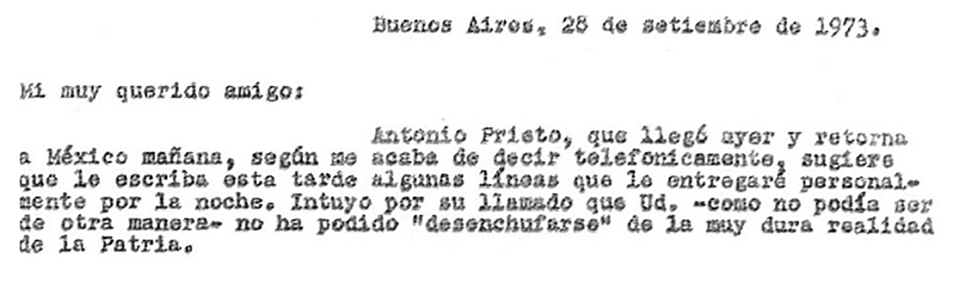 La carta del periodista Edgardo Sajón a Alejandro Agustín Lanusse, el expresidente de facto que se encontraba de viaje en México cuando asesinaron a Rucci