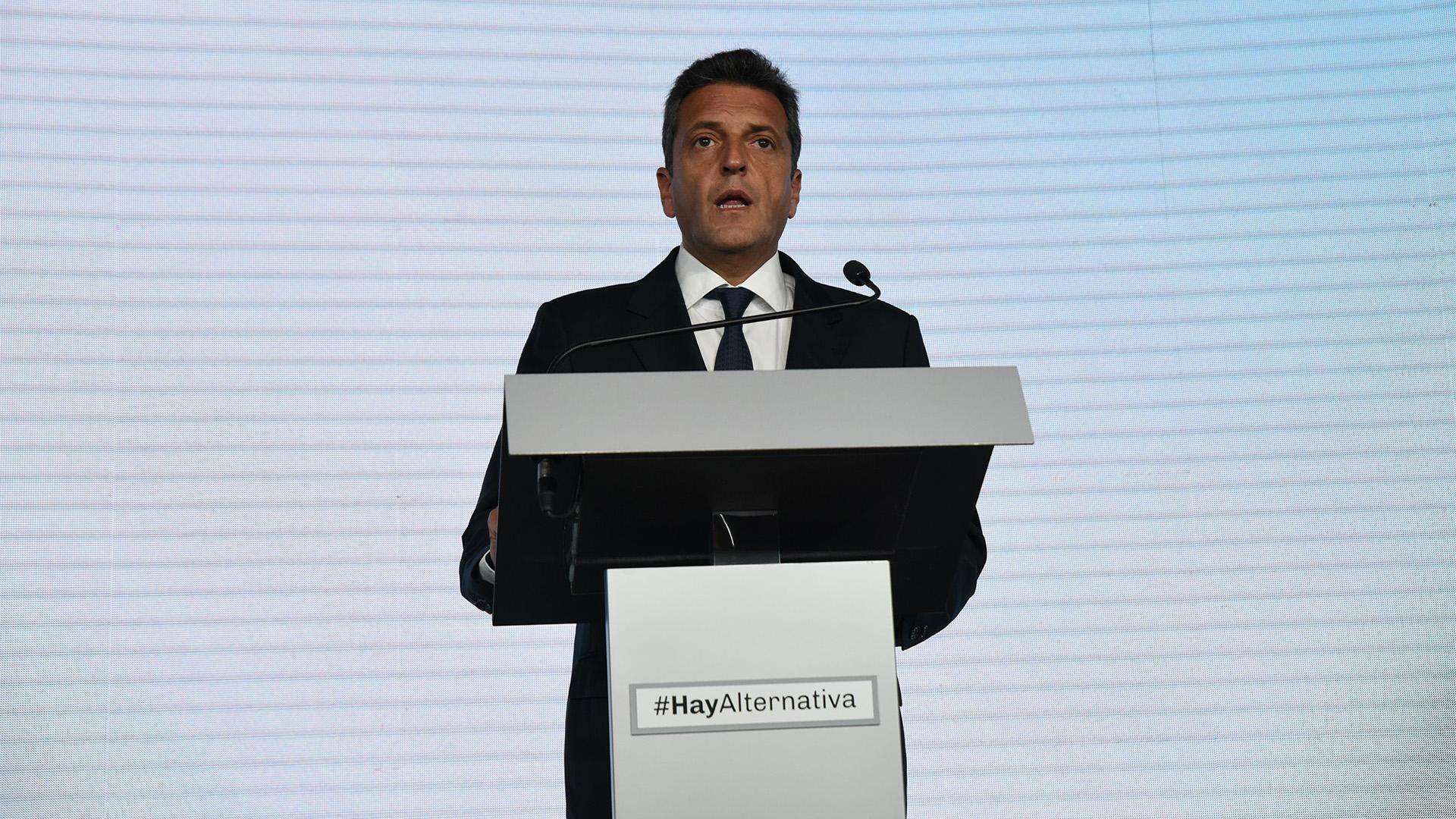 """""""Es un gobierno terco que repite, una y otra vez, 'no hay otro camino, es por acá'"""", expresó Sergio Massa a través de un comunicado (Franco Fafasuli)"""