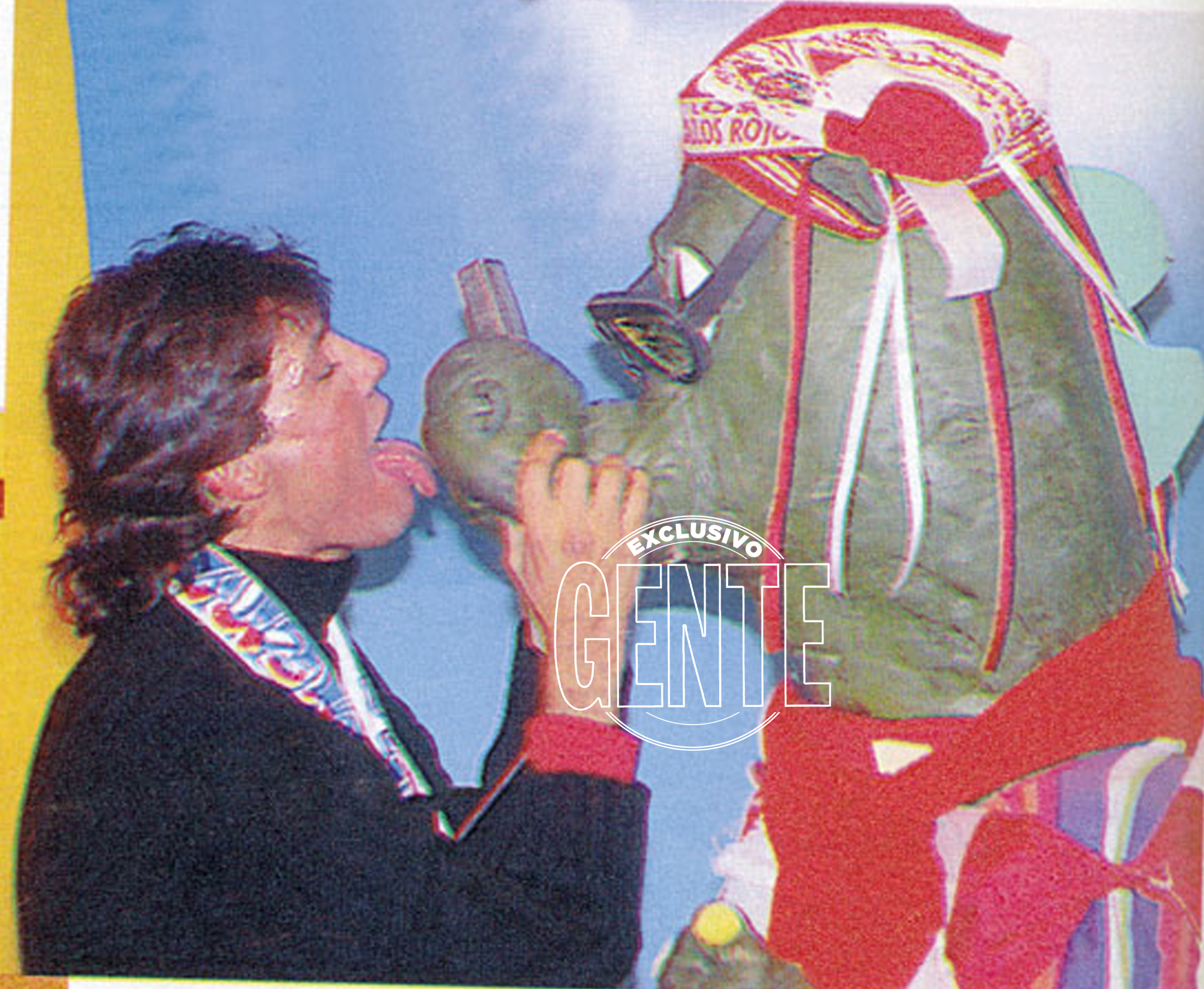 También aparecieron sus dos mascotas más famosas: el dinosaurio Bernardo y el oso Arturo.