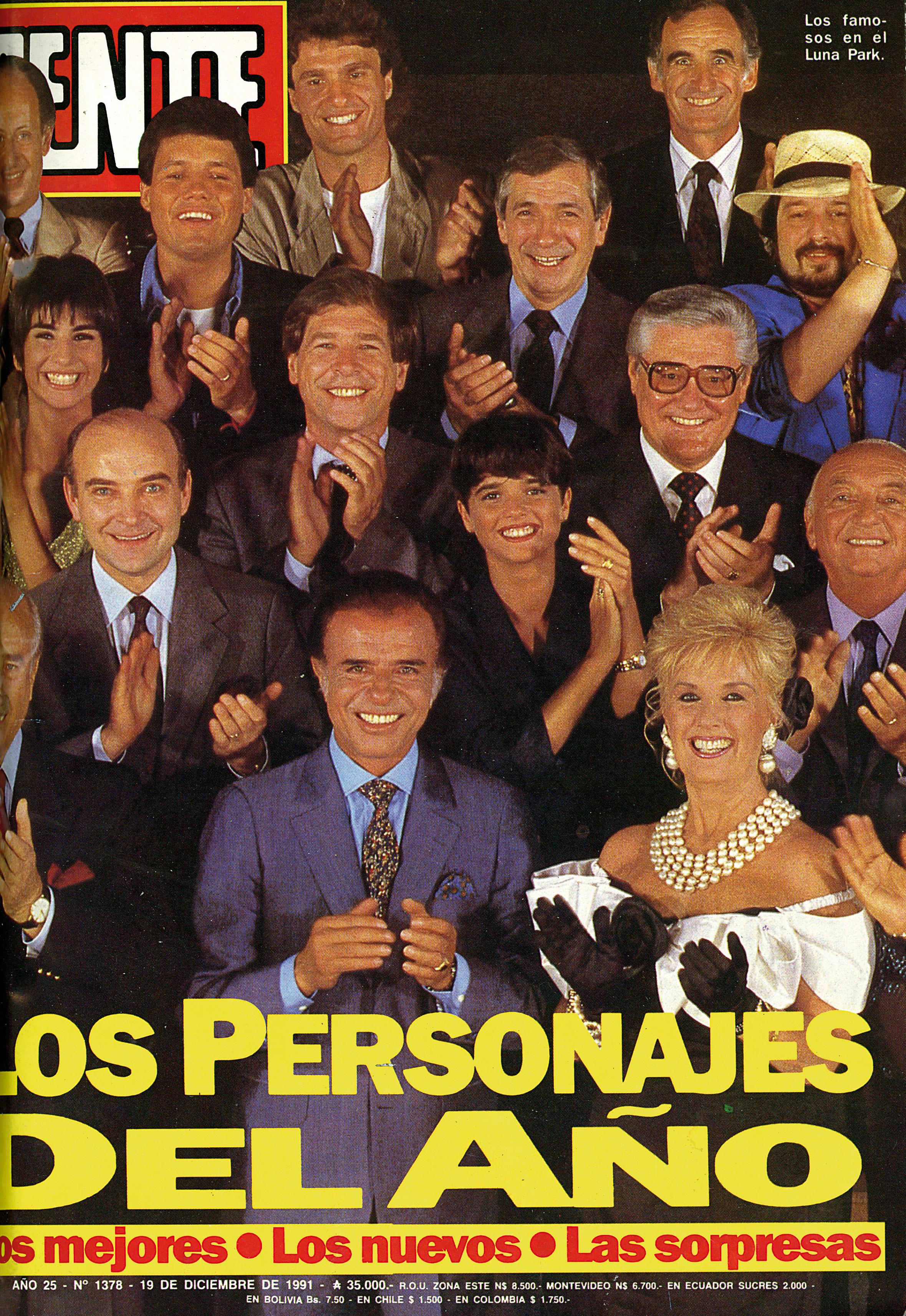 Así cerraba 1991, en la tapa de los Personajes de GENTE.