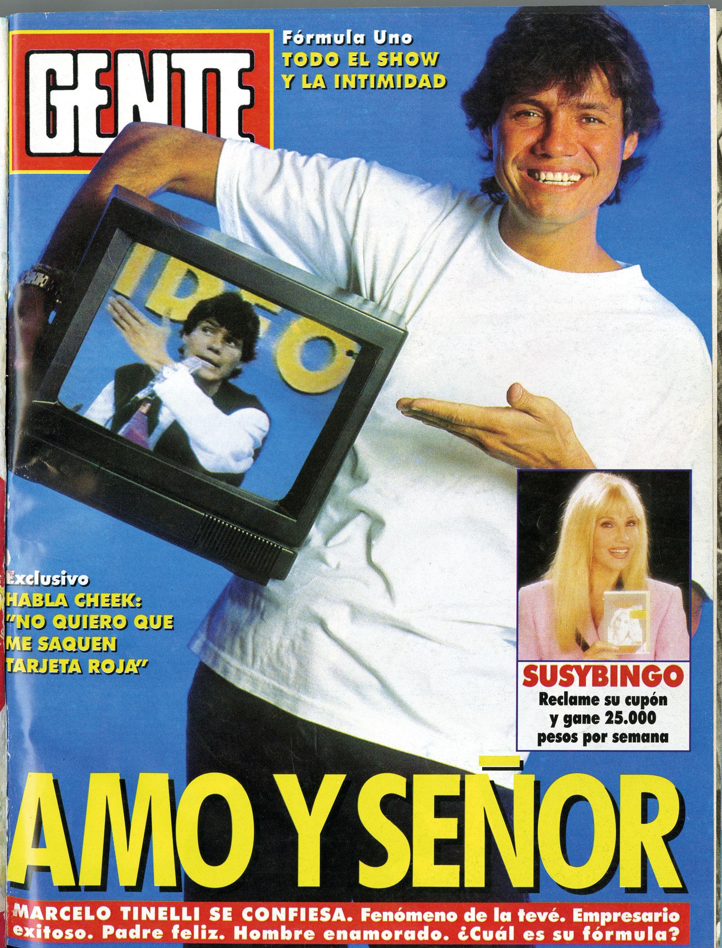 """Tapa de 1995. Sus confesiones y su fórmula para ser """"Amo y señor"""" de la televisión."""