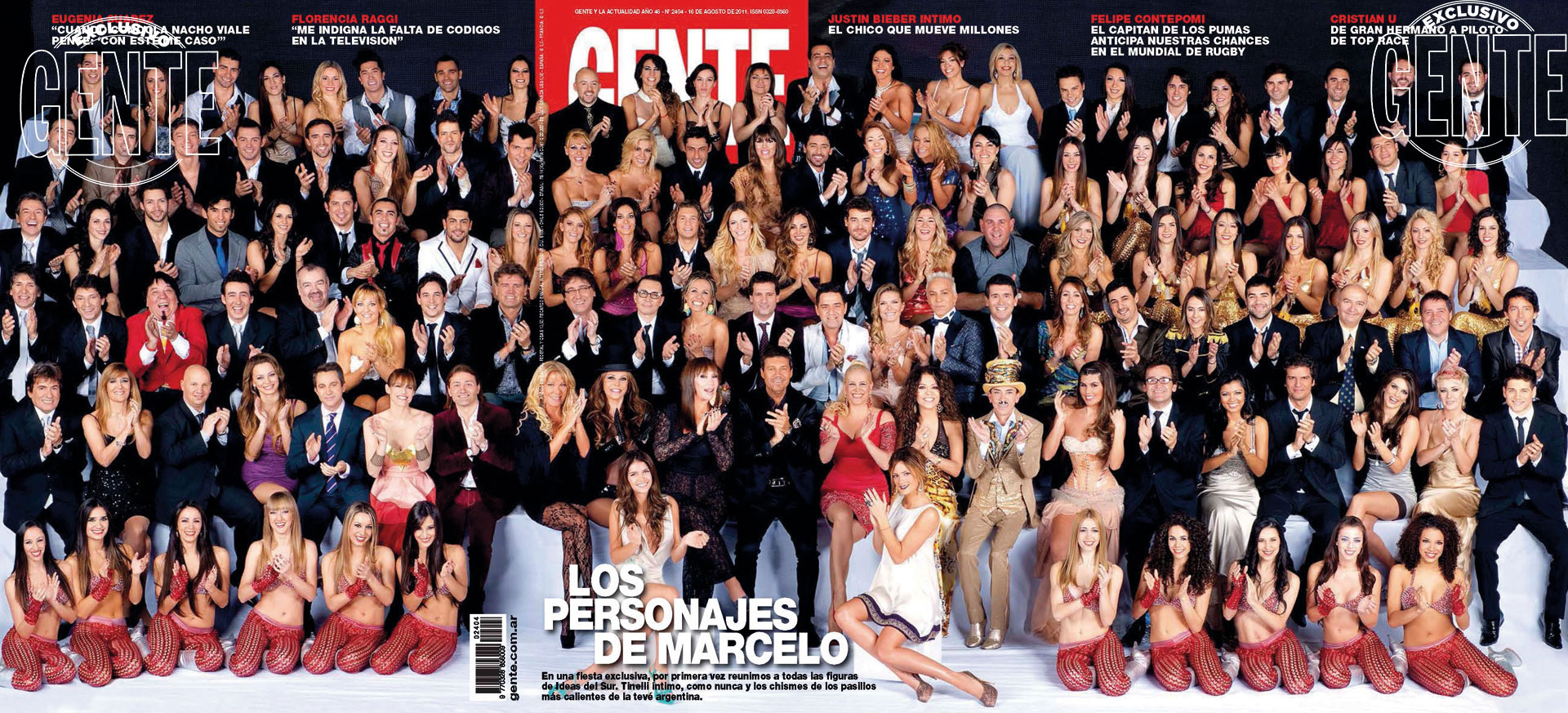La tapa de GENTE en 2011: la primera foto grupal de su elenco con nuestra revista, que desde entonces se convirtió en un clásico.