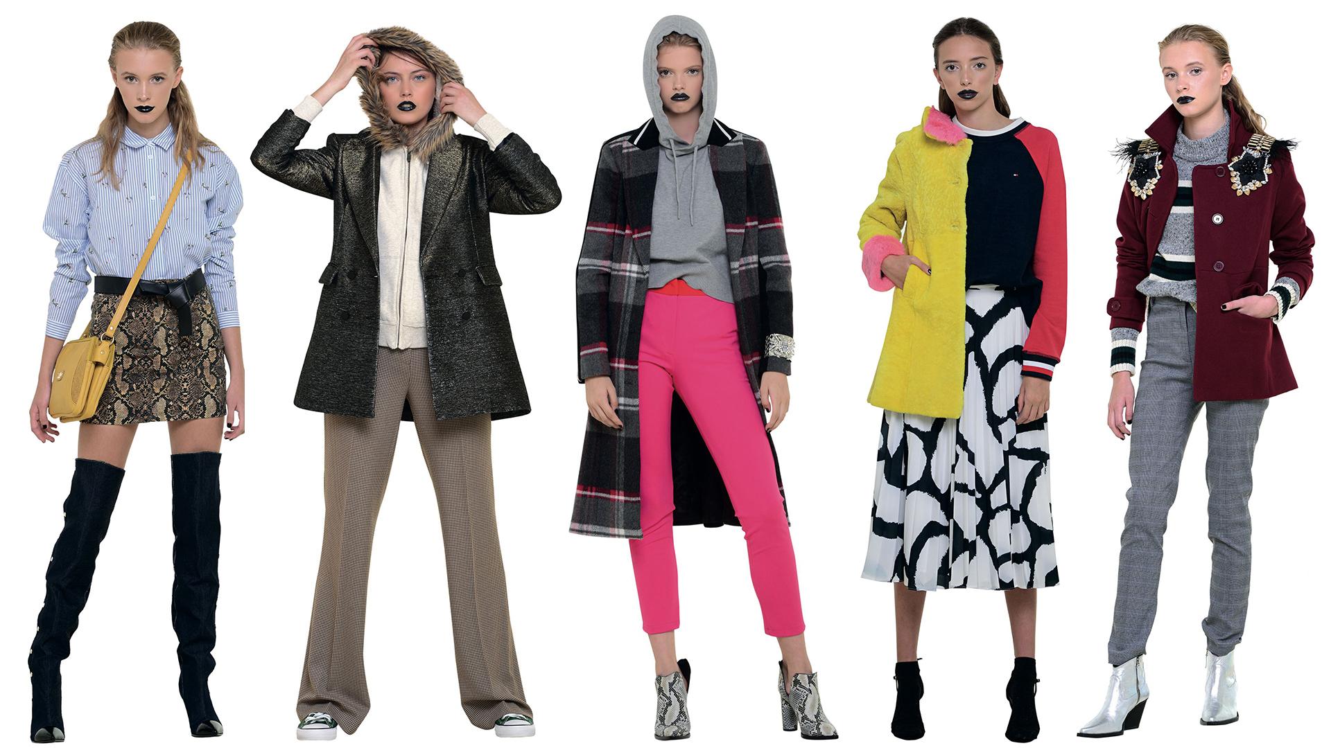 Mini, pantalón ancho, tapado con estampa a cuadros, falda largo midi y suéter oversize… Algunos de los ítems que se llevan esta temporada.