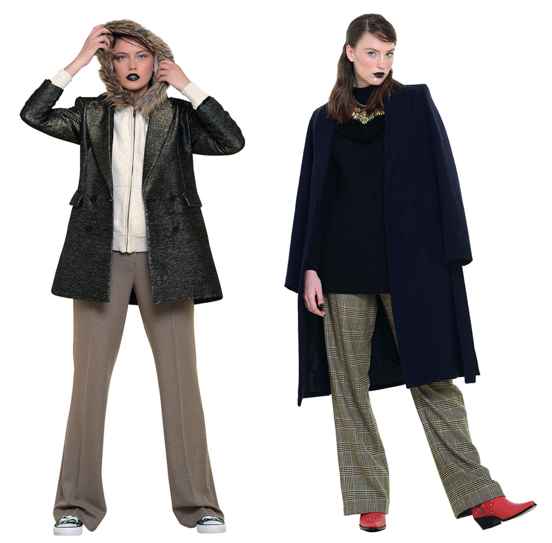 Pantalones anchos para un look lady like.