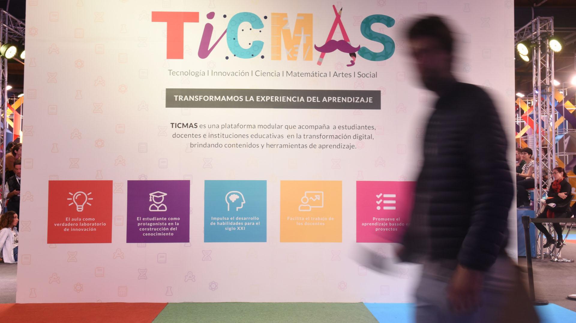 El espacio de TICMAS en la Feria del Libro