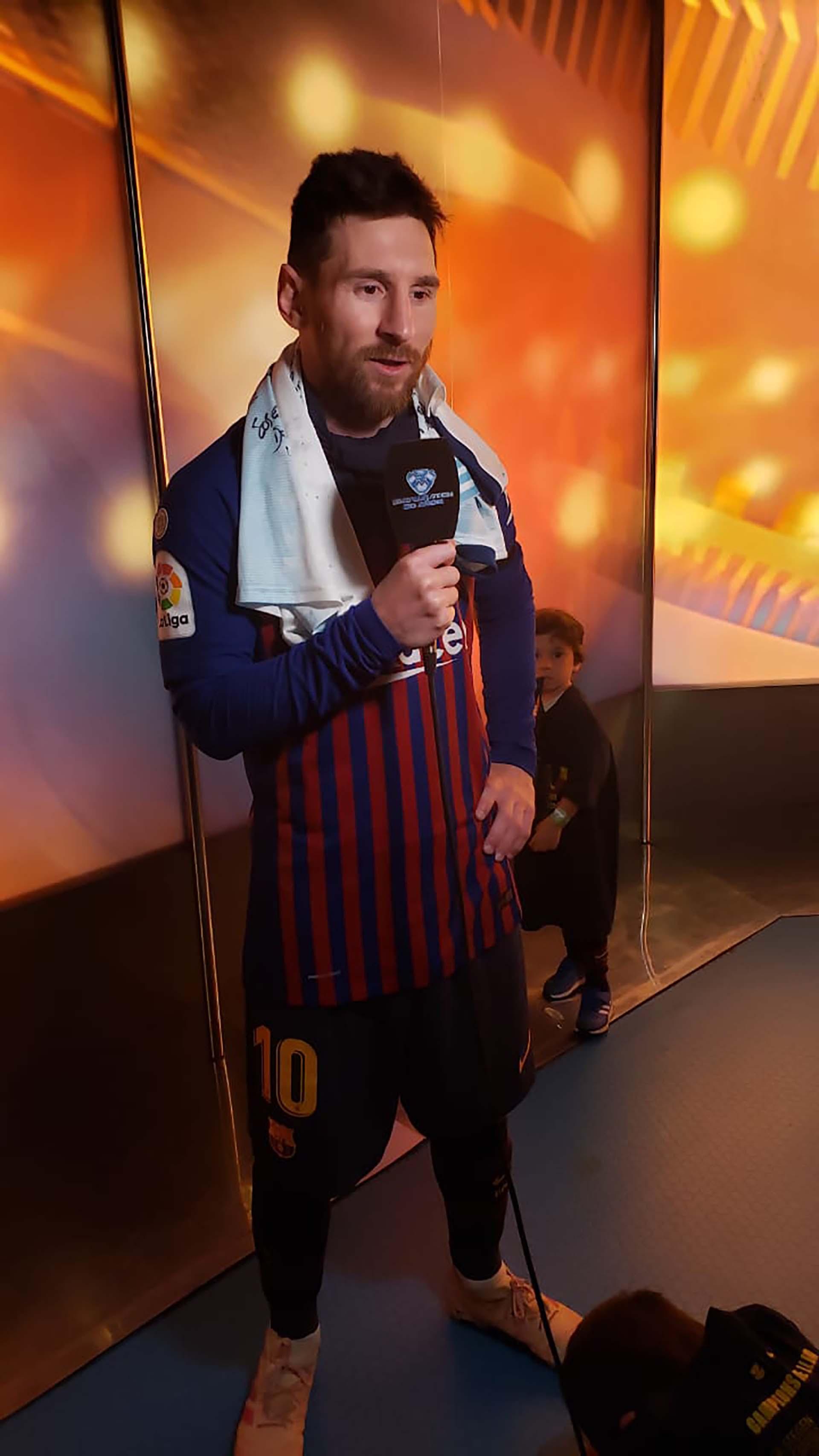 Luego de una nueva consagración con el Barcelona, Lionel Messi le envió un mensaje a Marcelo Tinelli por los 30 años de su programa