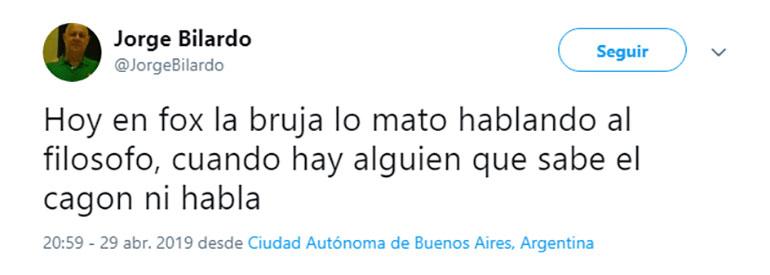 """El fuerte tuit de Jorge Bilardo, el hermano del """"Doctor"""" Carlos Salvador"""
