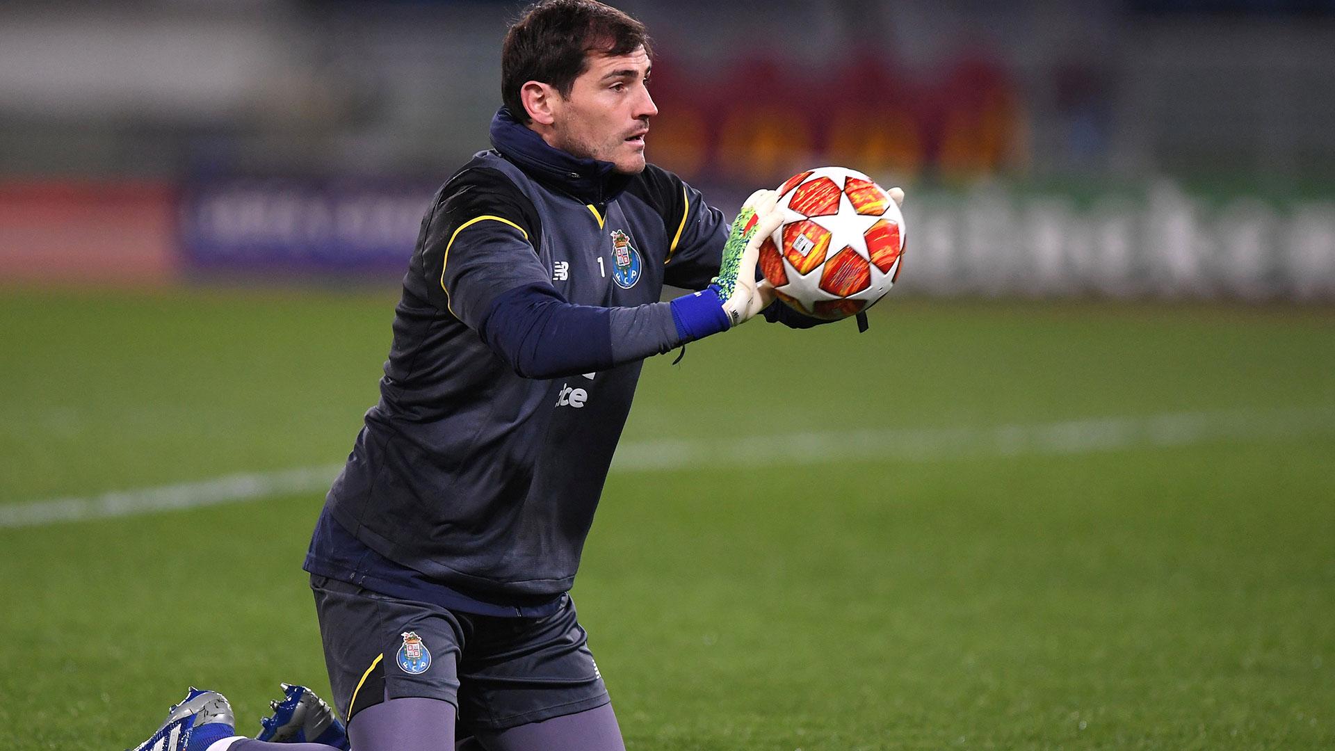Español Casillas reaparece en entrenamientos tras sufrir infarto