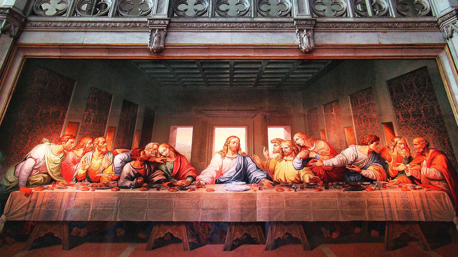 """""""La última cena"""" es una pintura mural original de Leonardo da Vinci ejecutada entre 1495 y 1498"""