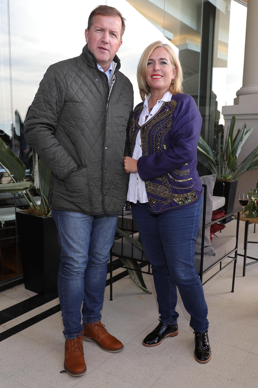 Eduardo Serenellini y su mujer