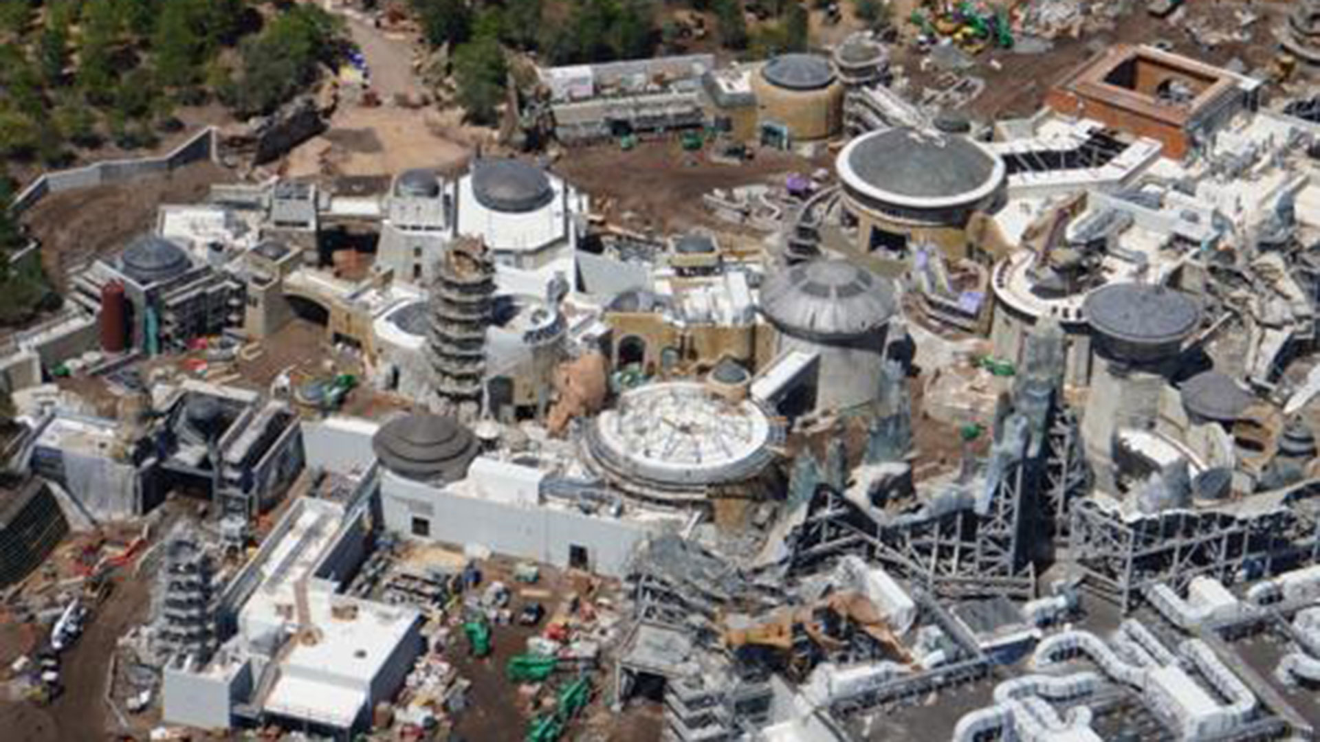 Vista aérea de Star Wars: Galaxy's Edge