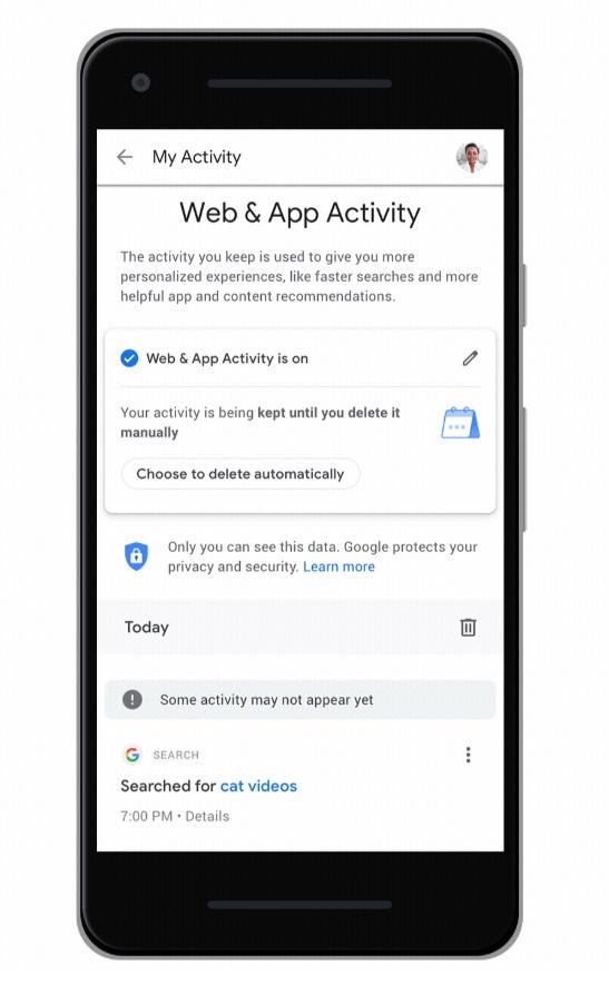 Google anunció la incorporación de una nueva herramienta para administrar los datos que se almacenan en la cuenta del usuario.