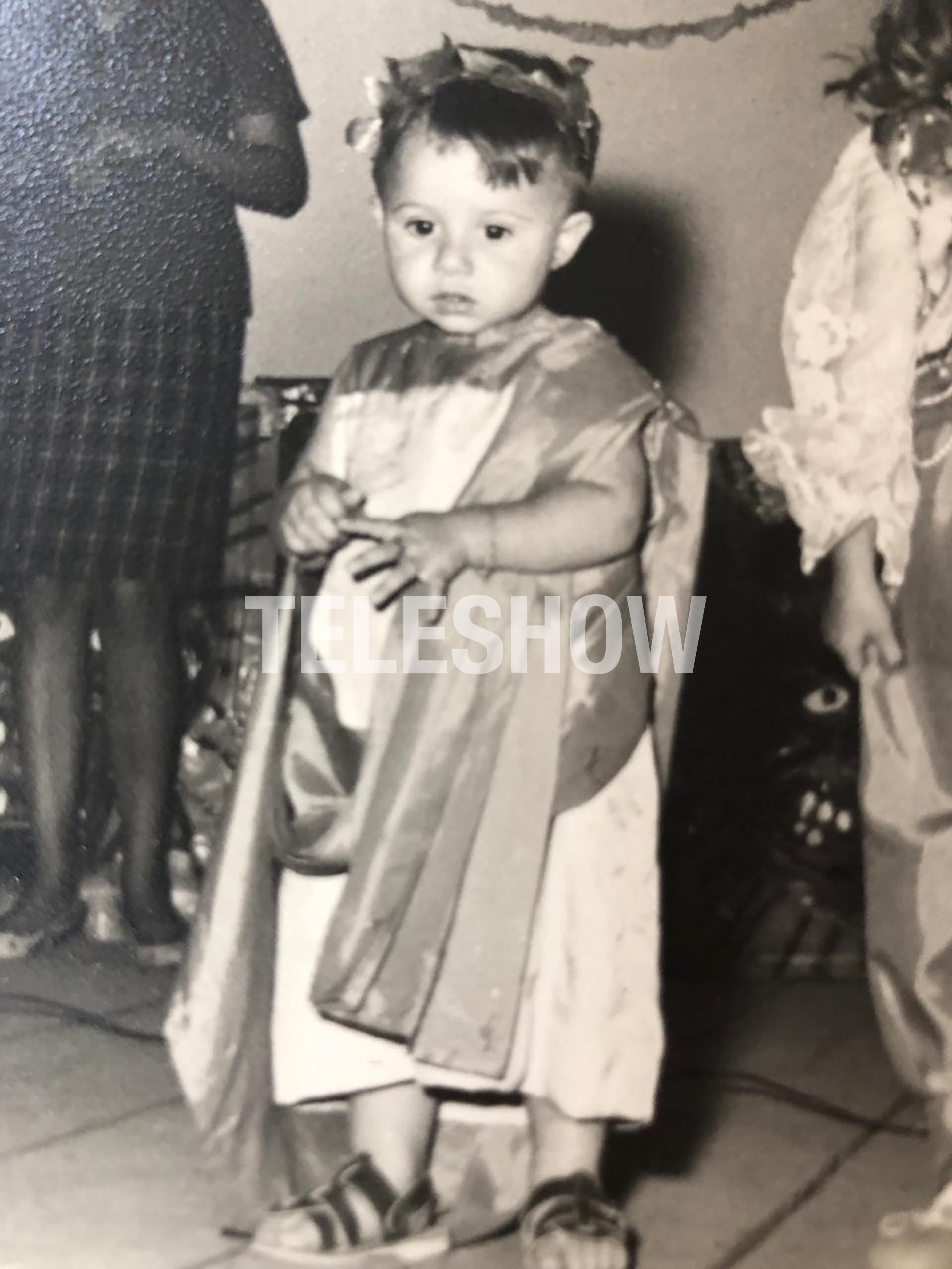 Sergio Lapegüe disfrazado para un acto escolar