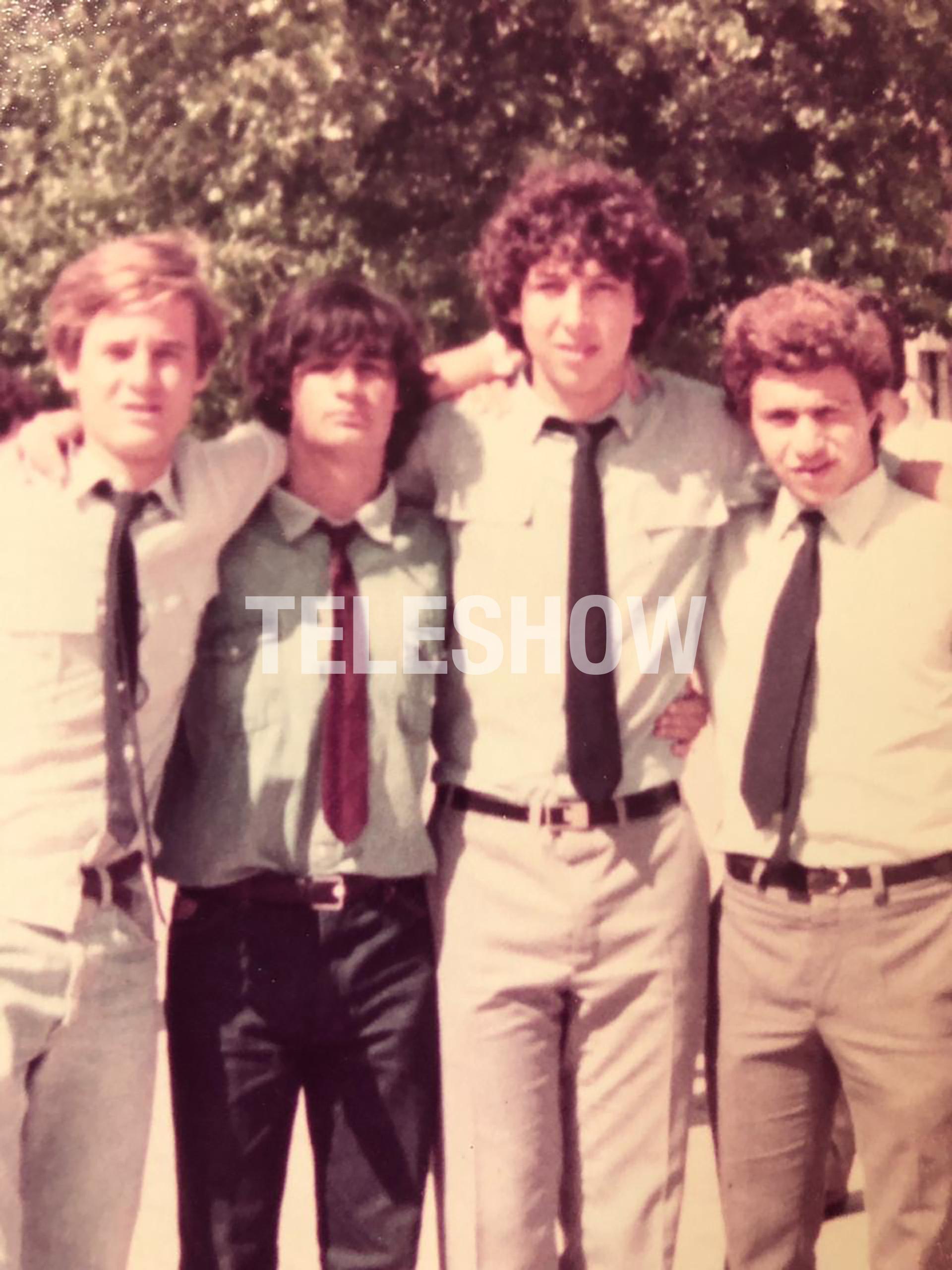 Sergio Lapegüe con sus amigos del ENAM de Banfield, Hernán, Willy y Chelotr